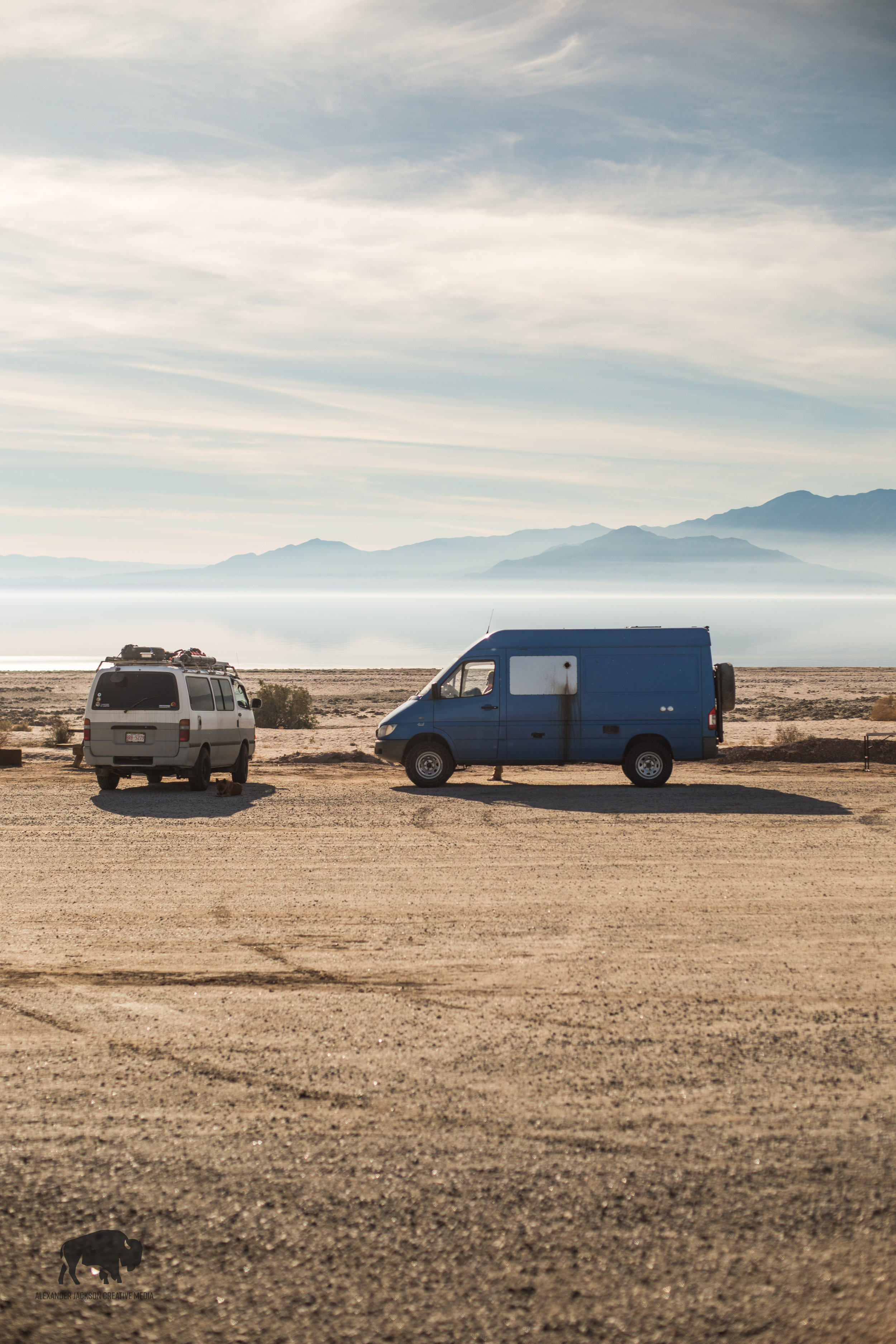 Making a quick stop at the Salton Sea.