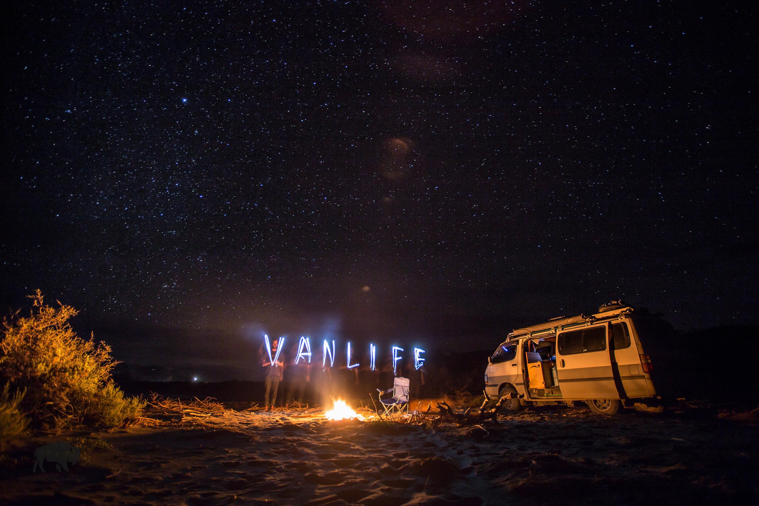Getting in the spirit of van life.