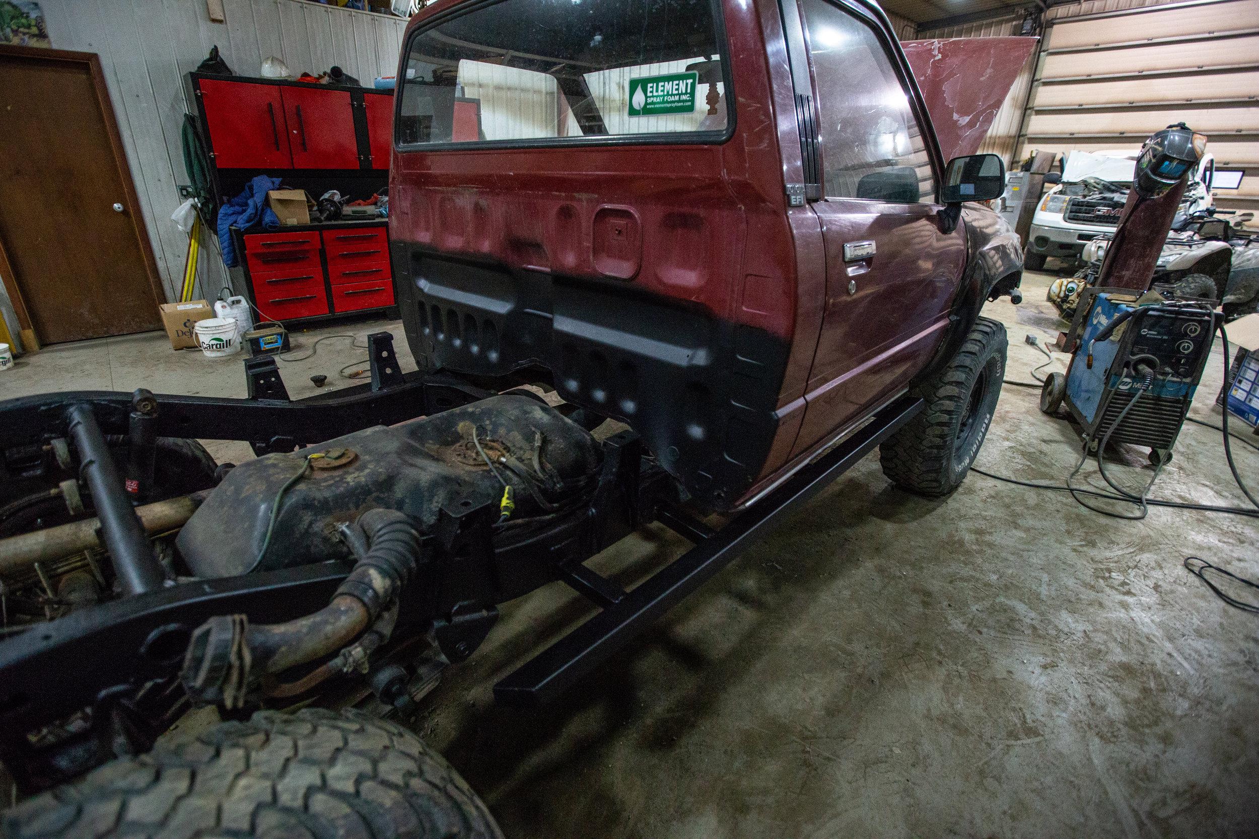 New sliders welded on.