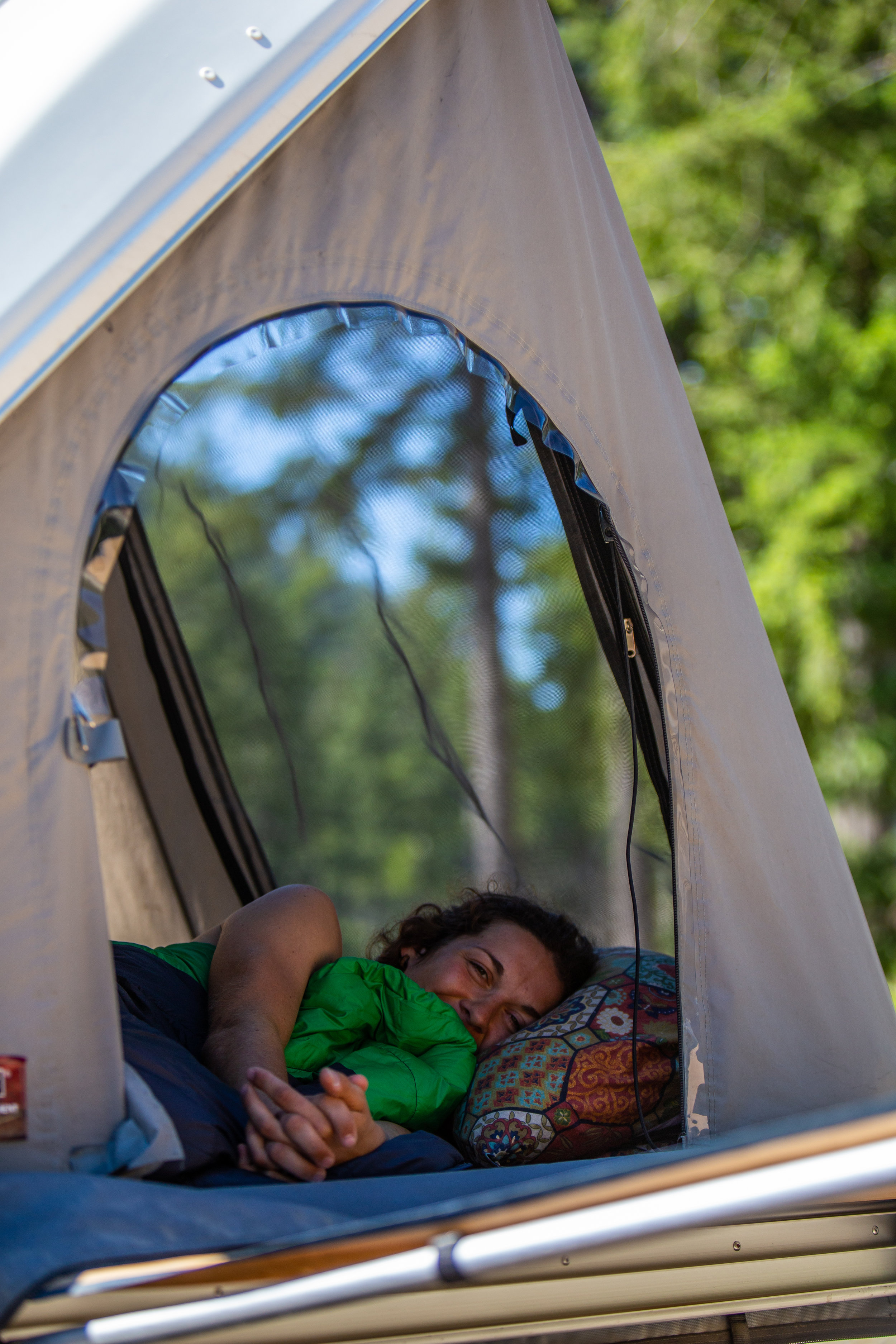 The luxury of camping, mid-afternoon naps.