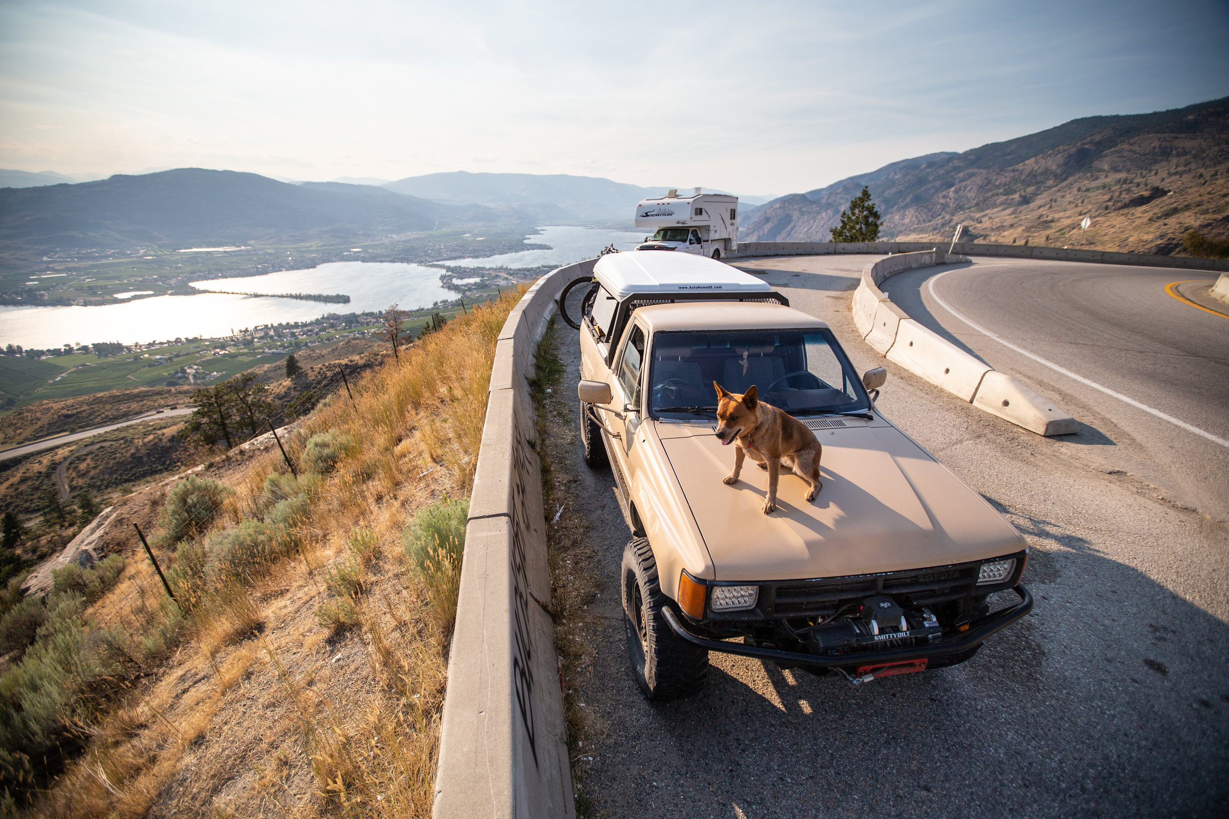 Returning to Alberta by myself I decided to take the long way home and managed to make what should have been a two journey into a week of driving. This is overlooking Osoyoos, BC.
