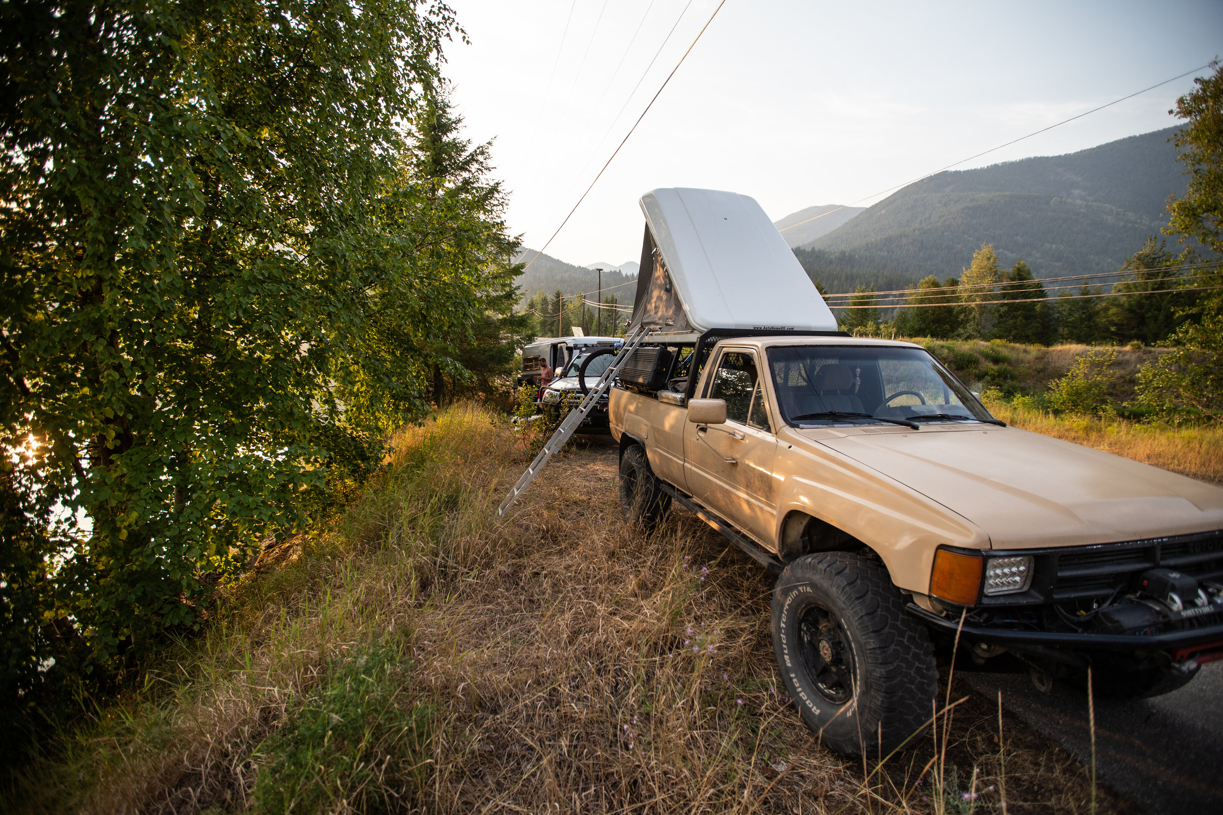 After years of meet-up attempts I finally caught up with Travis Perry and camped with him just outside of Nelson, BC.