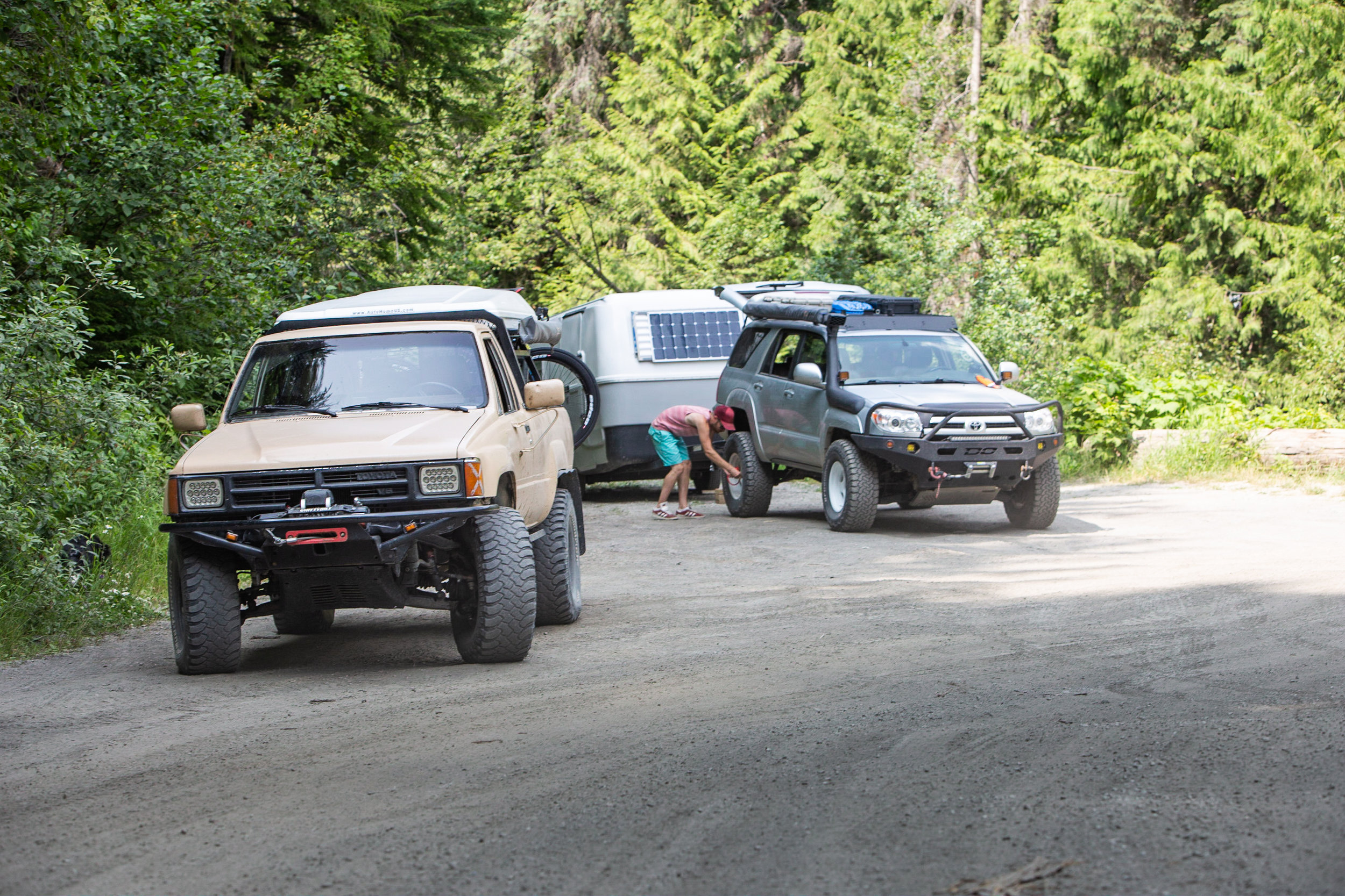 Later the next day we decided to drive up a mountain just outside of Kaslo to peek some peaks and gold mines.