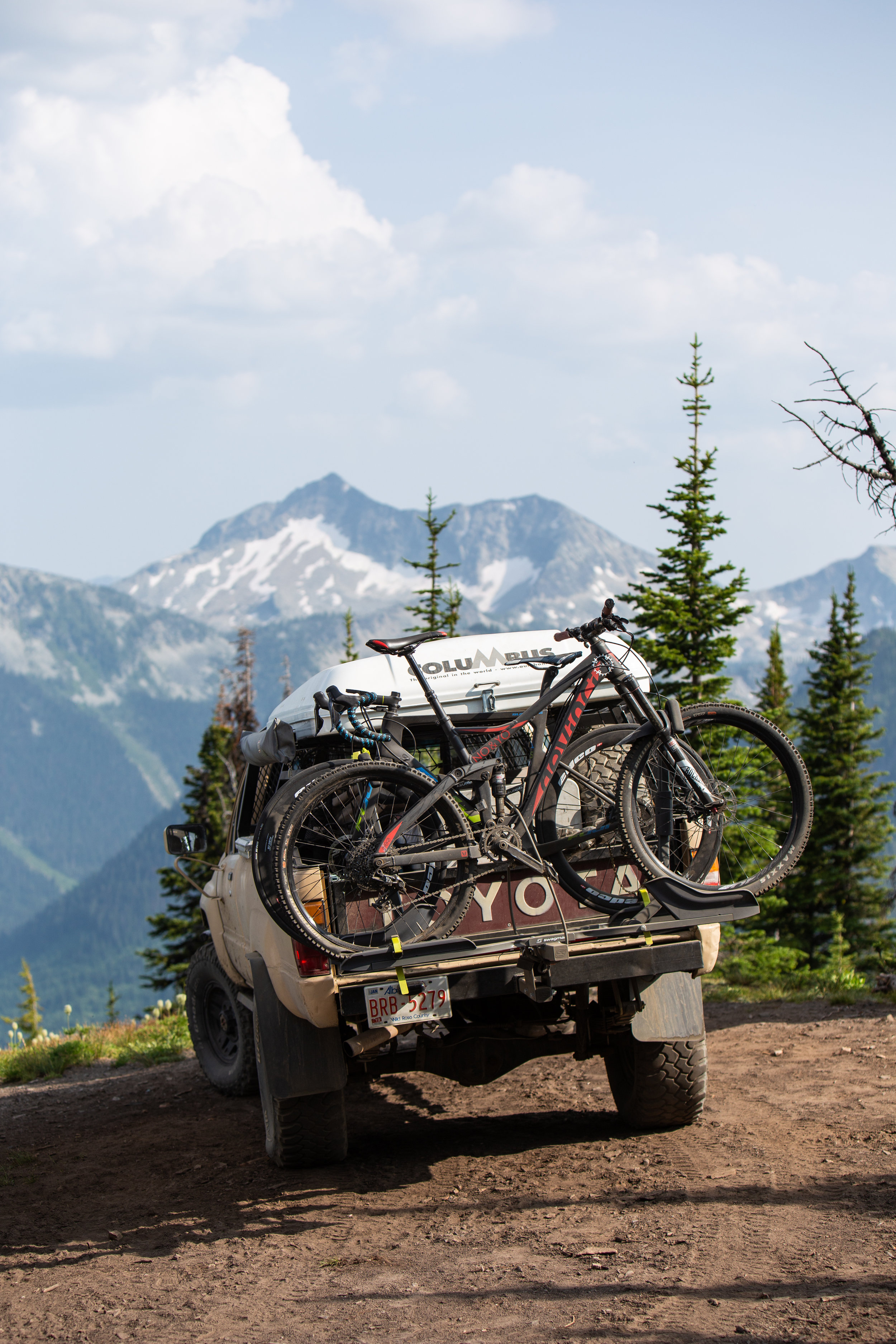 Who would have known that Alison's bike would make it to such heights via 4x4 truck.