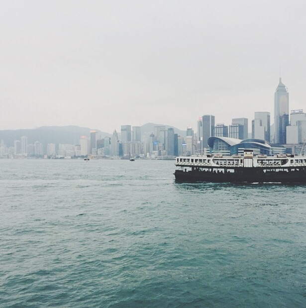 The Star Ferry in Hong Kong Harbor