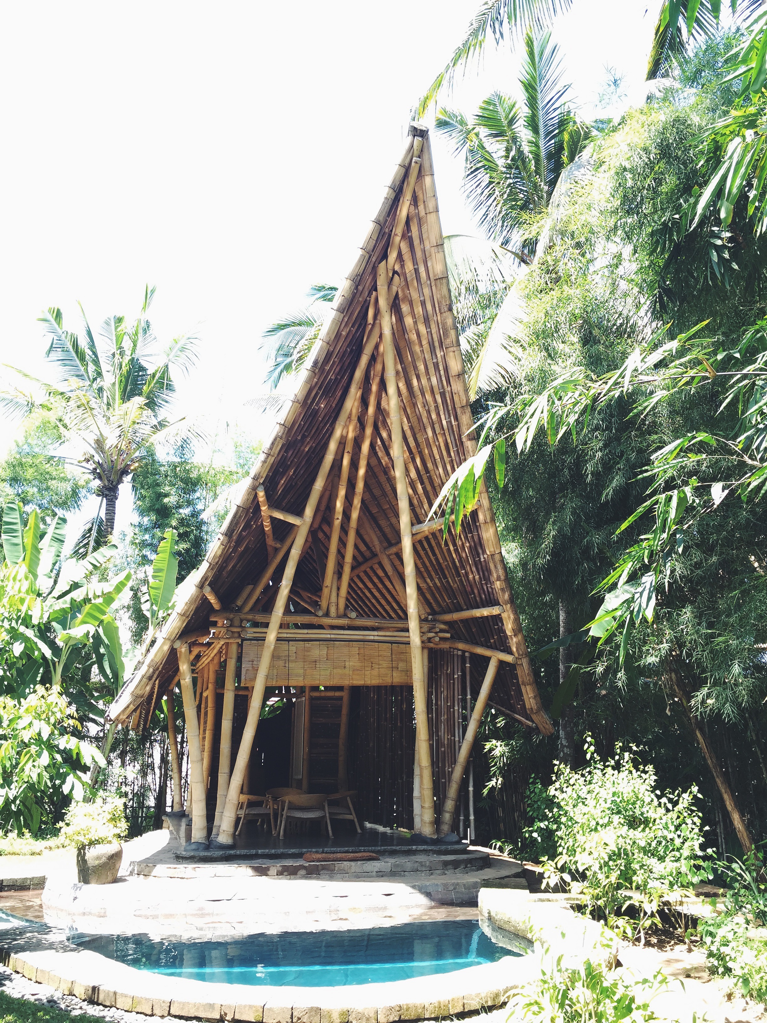 We also visited The Green Village, a community of houses made entirely of bamboo.