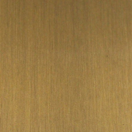 linear-brushed brass