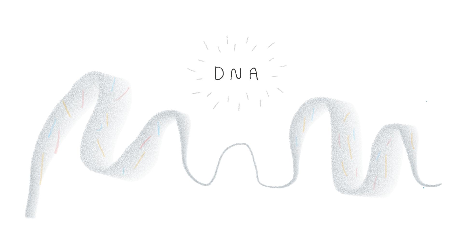 DNA illustration.