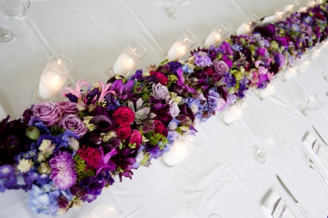 cd francoise weeks flower garland for head table - photo David Barss.jpg