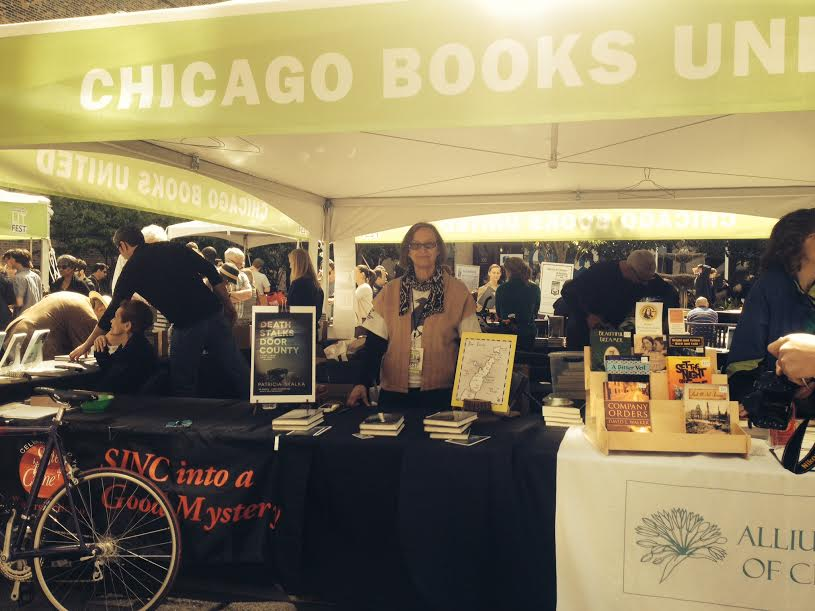 Chicago Books United booth @ Printer's Row Lit Fest 2014