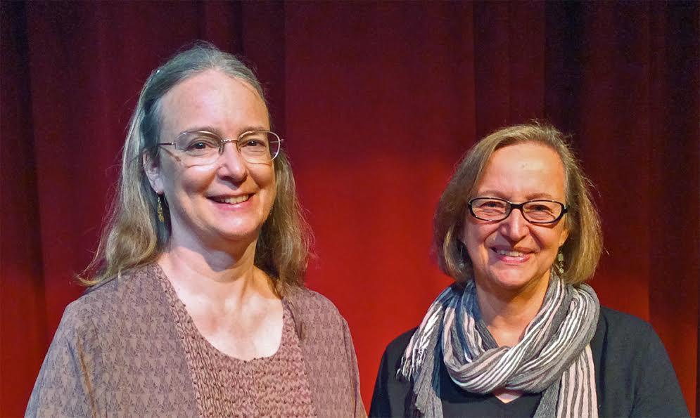 With author Kathleen Ernst at the 2016 Washington Island Literary Festival.