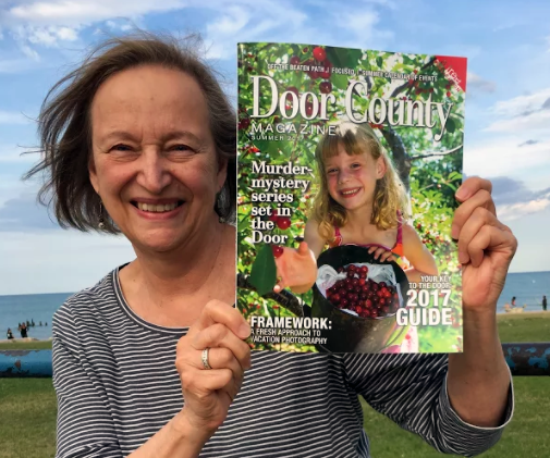 Cover of the summer 2017 edition of the Door County Magazine, featuring Patricia Skalka & the Dave Cubiak Mysteries!