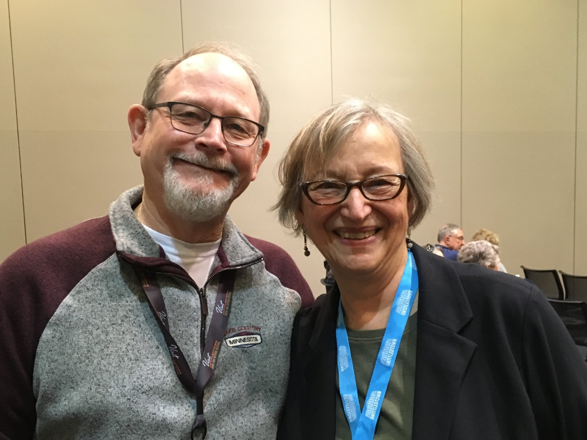 With best-selling author William Kent Krueger at 2019 Untitled Town Book and Author Festival, Green Bay, WI