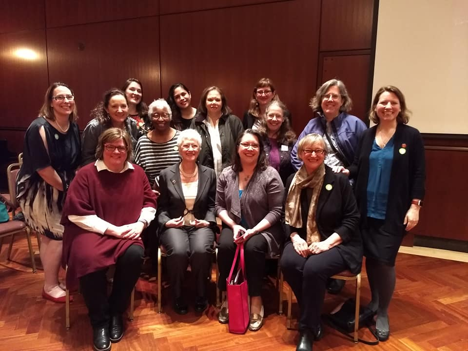 With the fantastic Sara Paretsky and other Sisters in Crime at the Chicago Literary Hall of Fame evening honoring Sara for her groundbreaking work as a woman crime writer, May 2019.