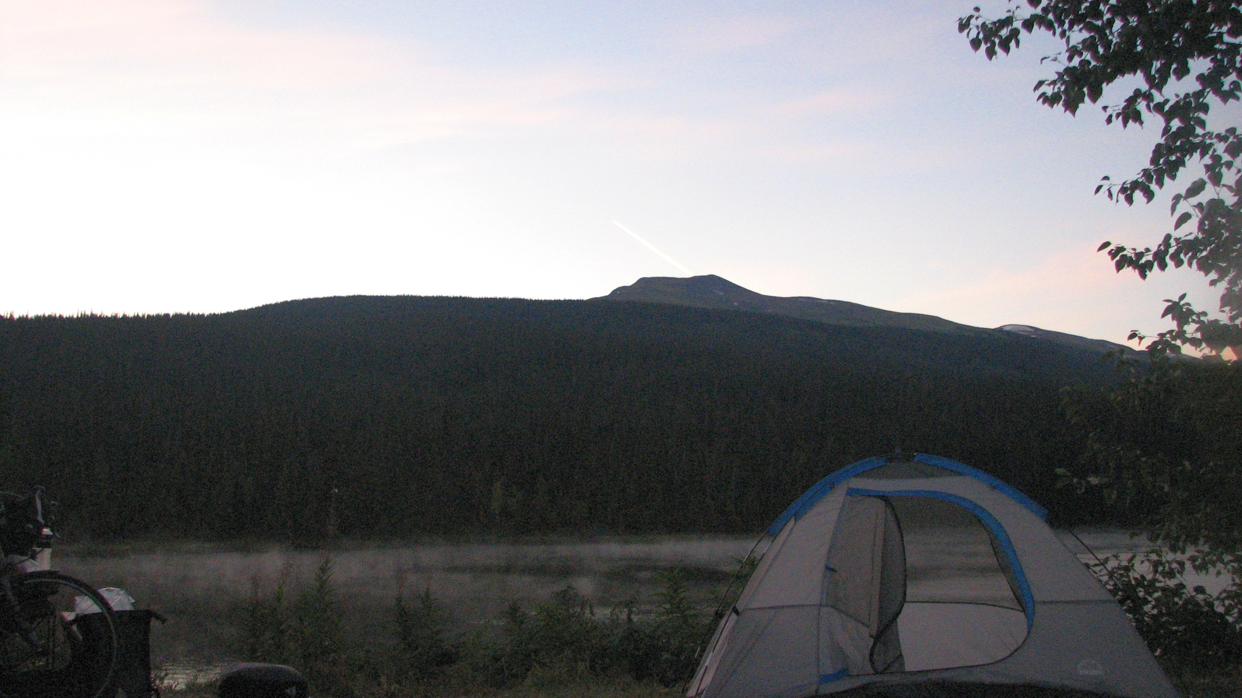 Roadside camp before Bell 2 Lodge on the Cassiar Highway