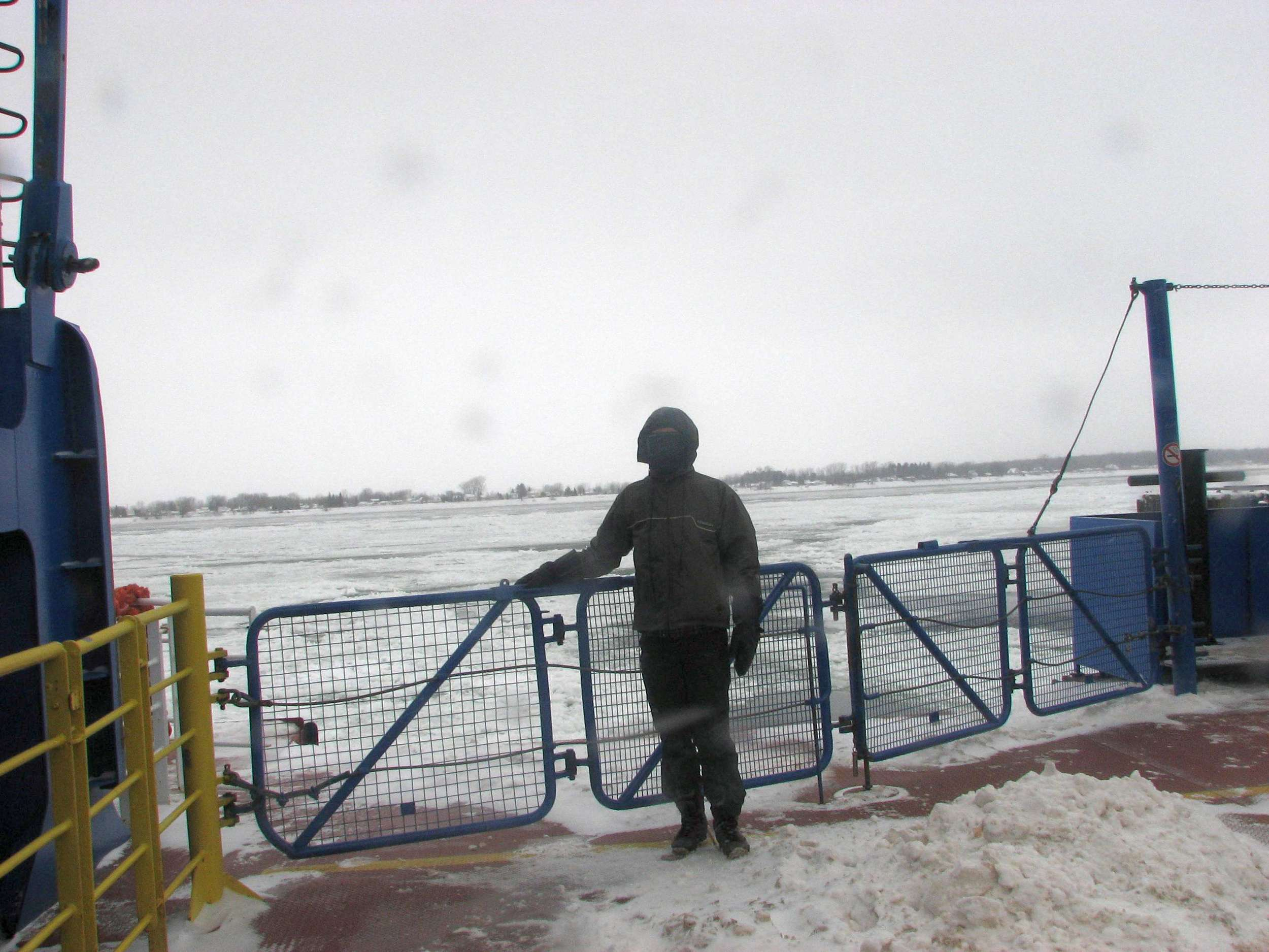 The Sorel ferry across the St. Lawrence river