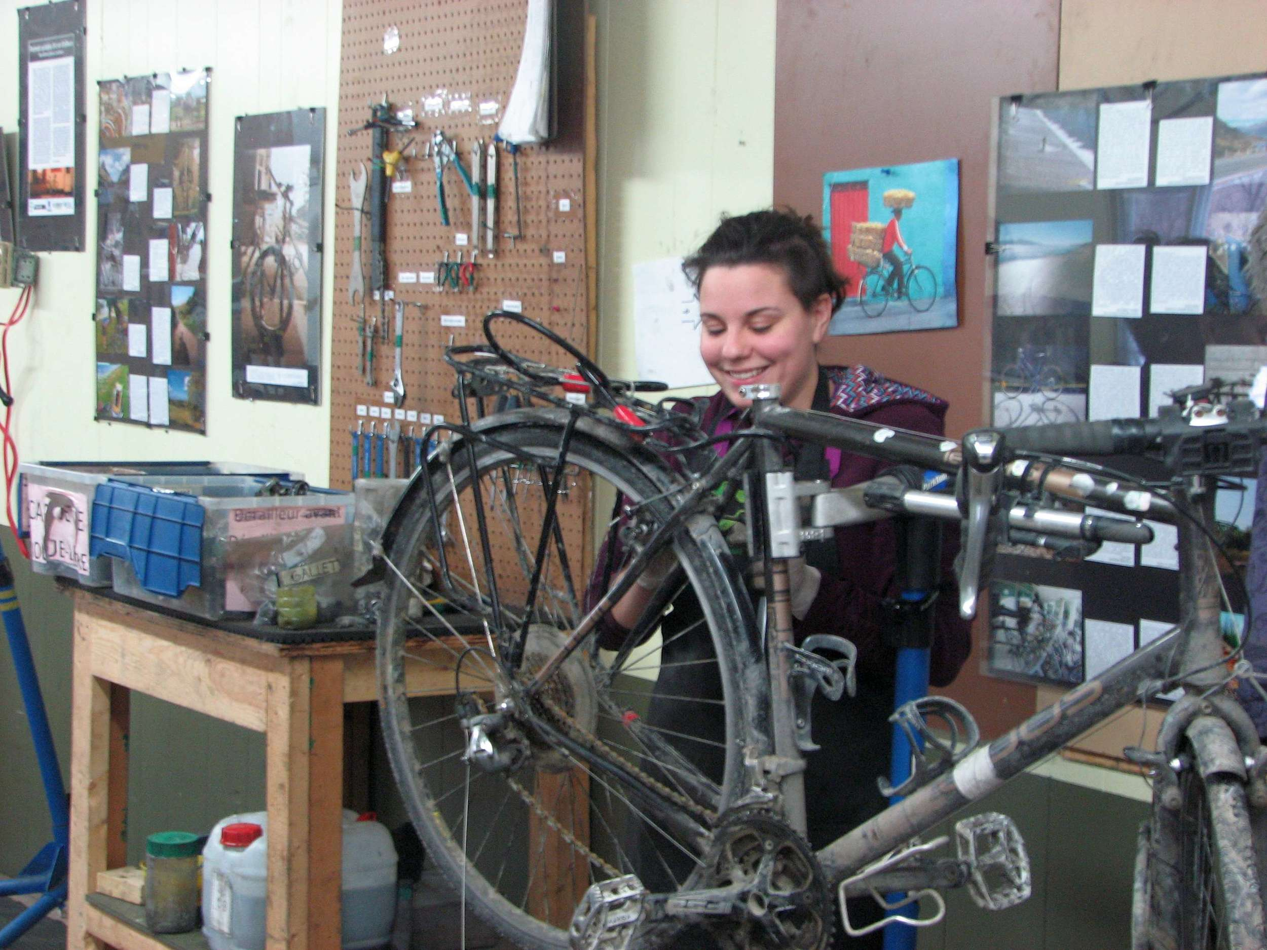 Myriam who fixed my derailleur & tuned up the bike.