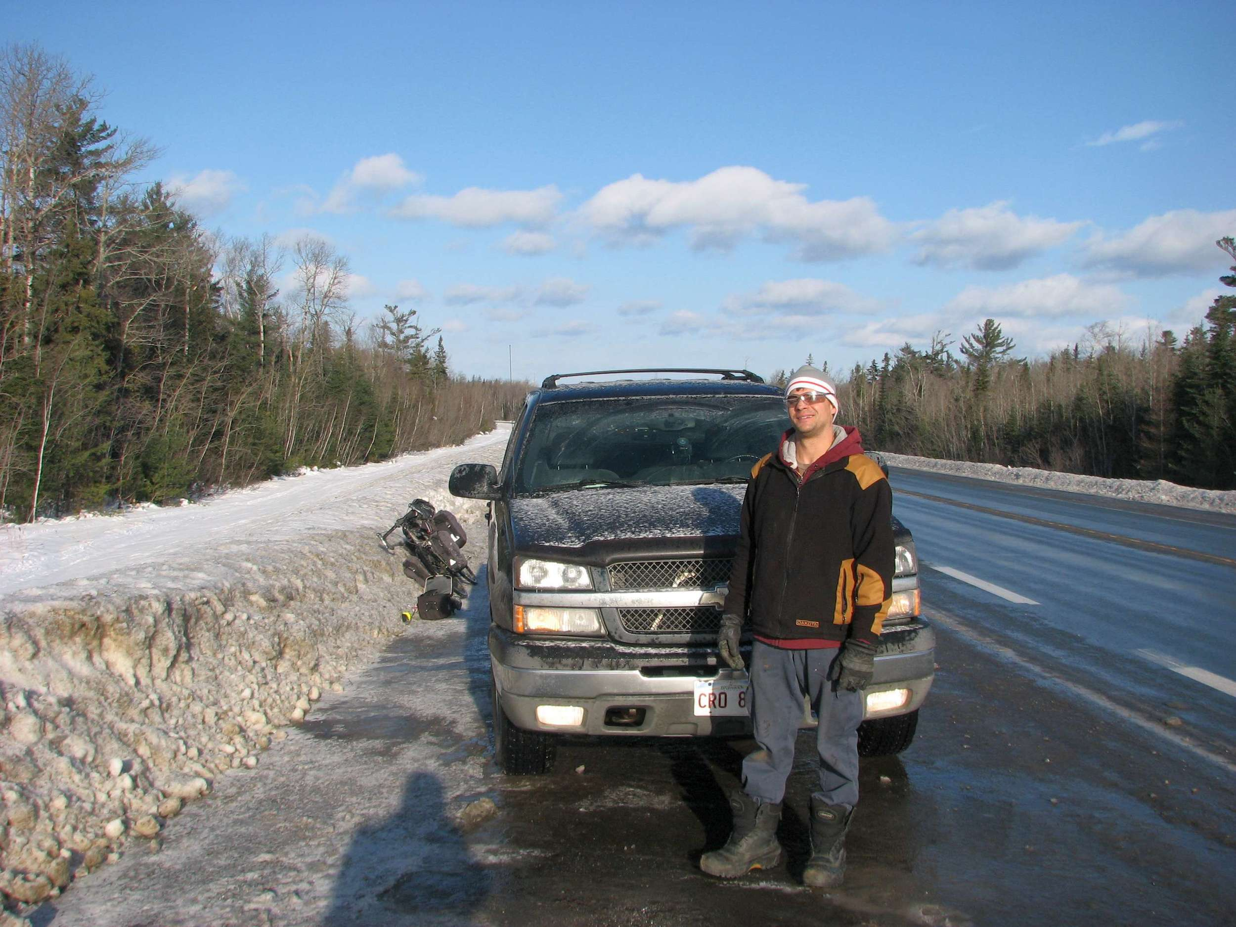 Michael from Caraquet who drove me back 30km. Thank you!