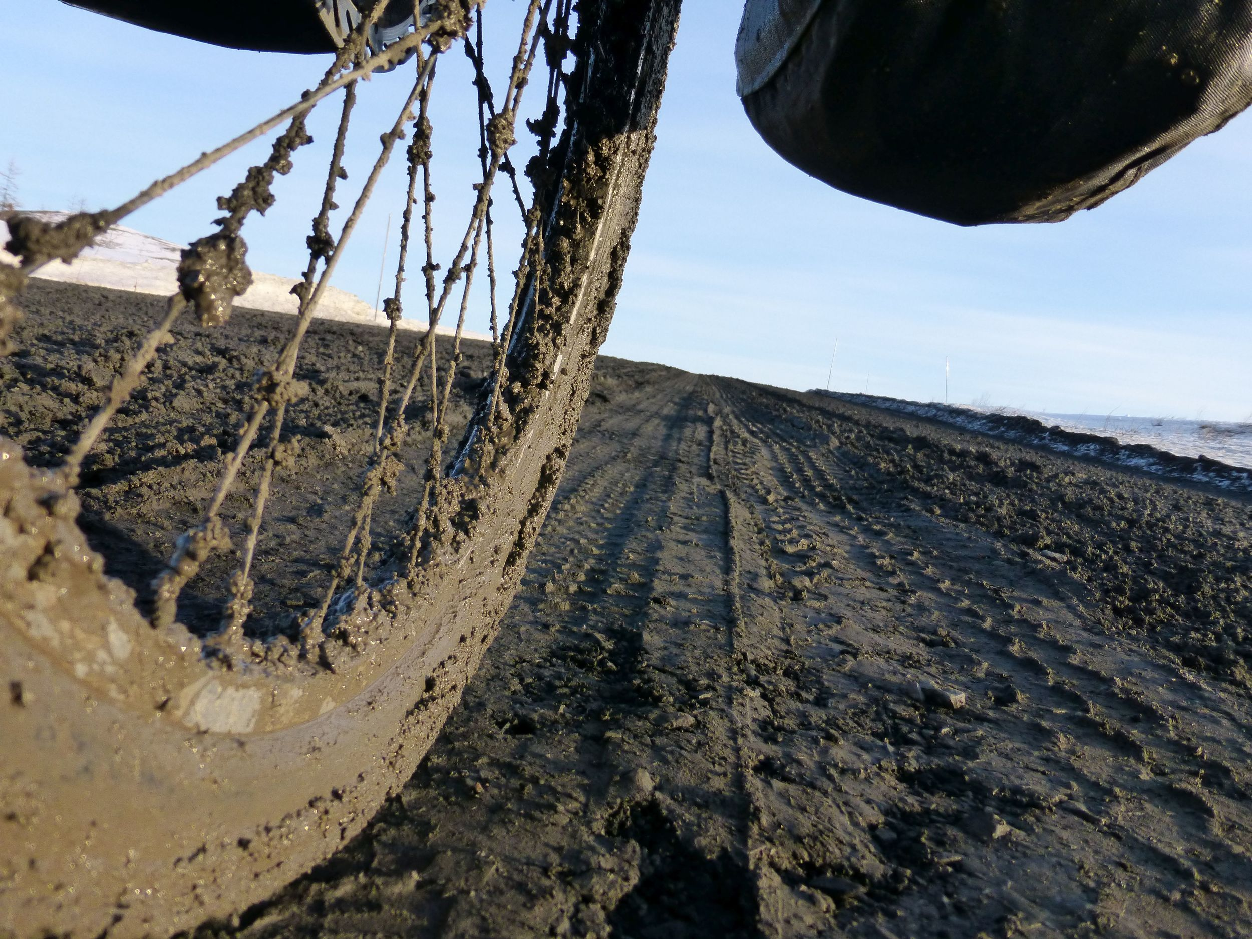 """""""cycle"""" also meant walking up the muddy sections, and this was a good one not like the mud that broke my derailleur."""