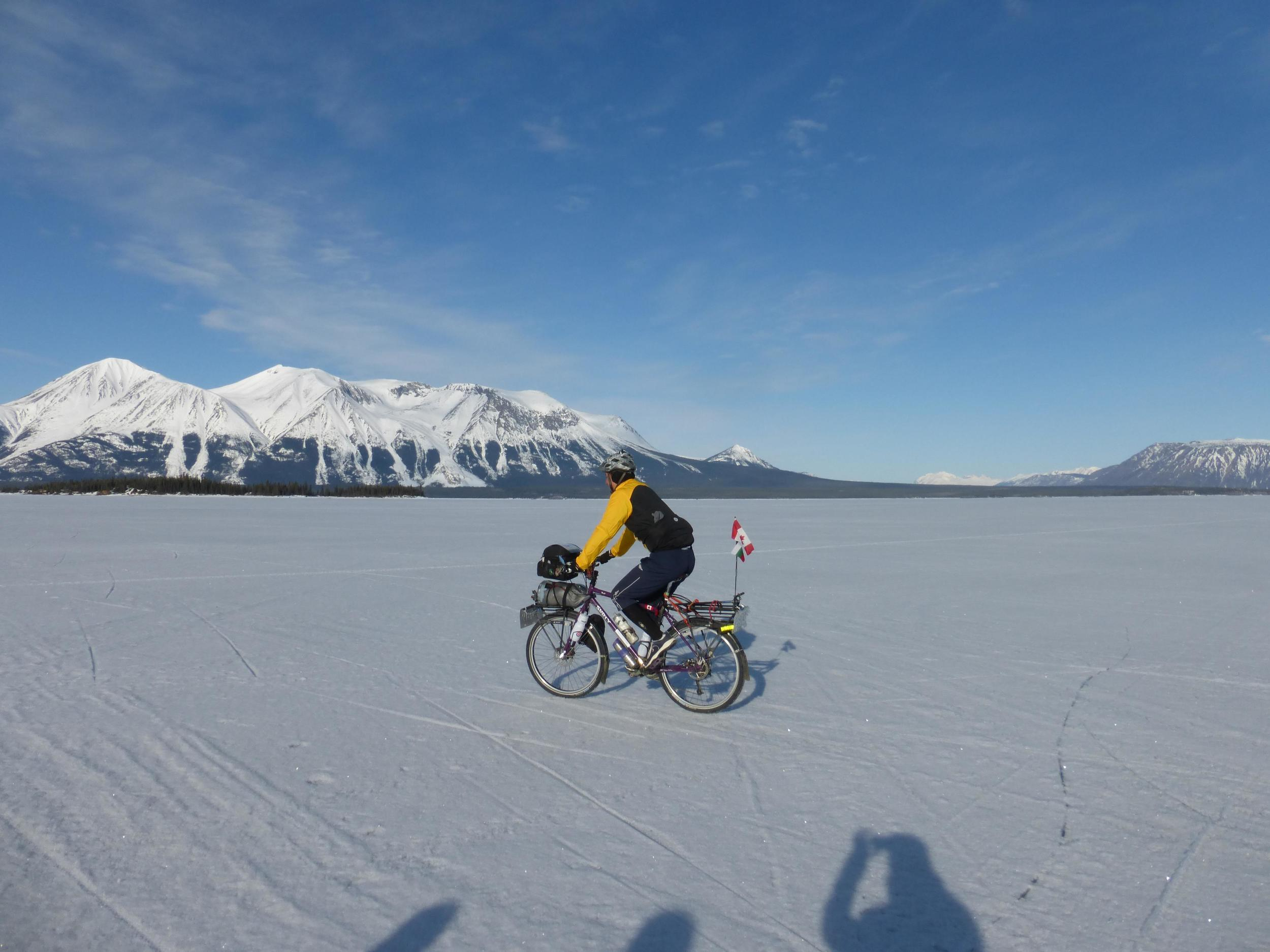 What do you do on a detour? Take another detour... and then take a day to ride on the frozen lake.