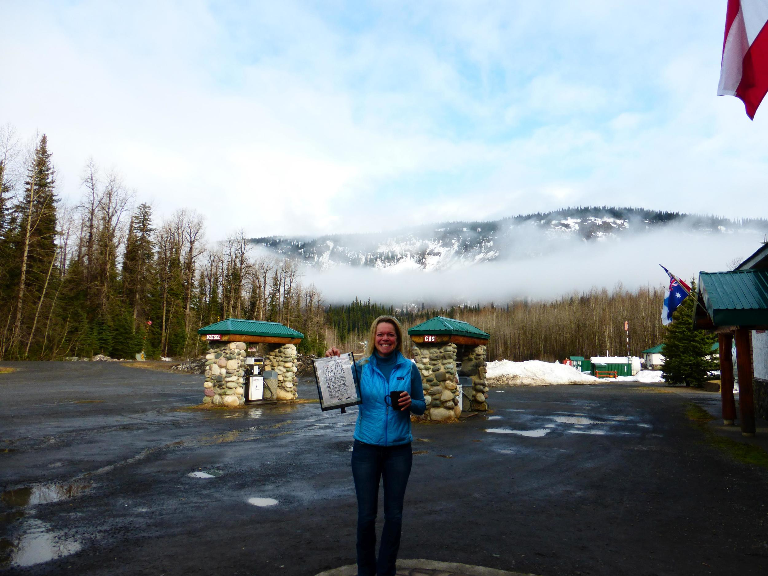 Nicole, originally from Alaska is now living in Prince Rupert, she was going to the Red Chris mine to do training.