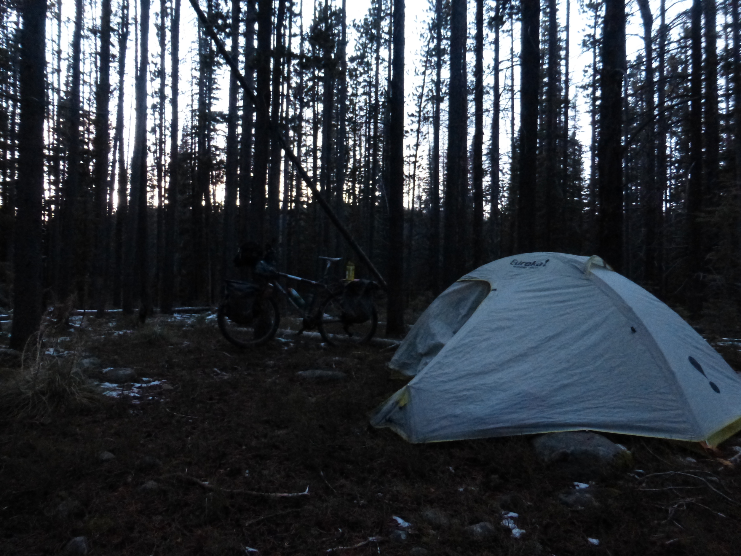 I set up camp at the crest of my highest summit yet: 7400 feet.