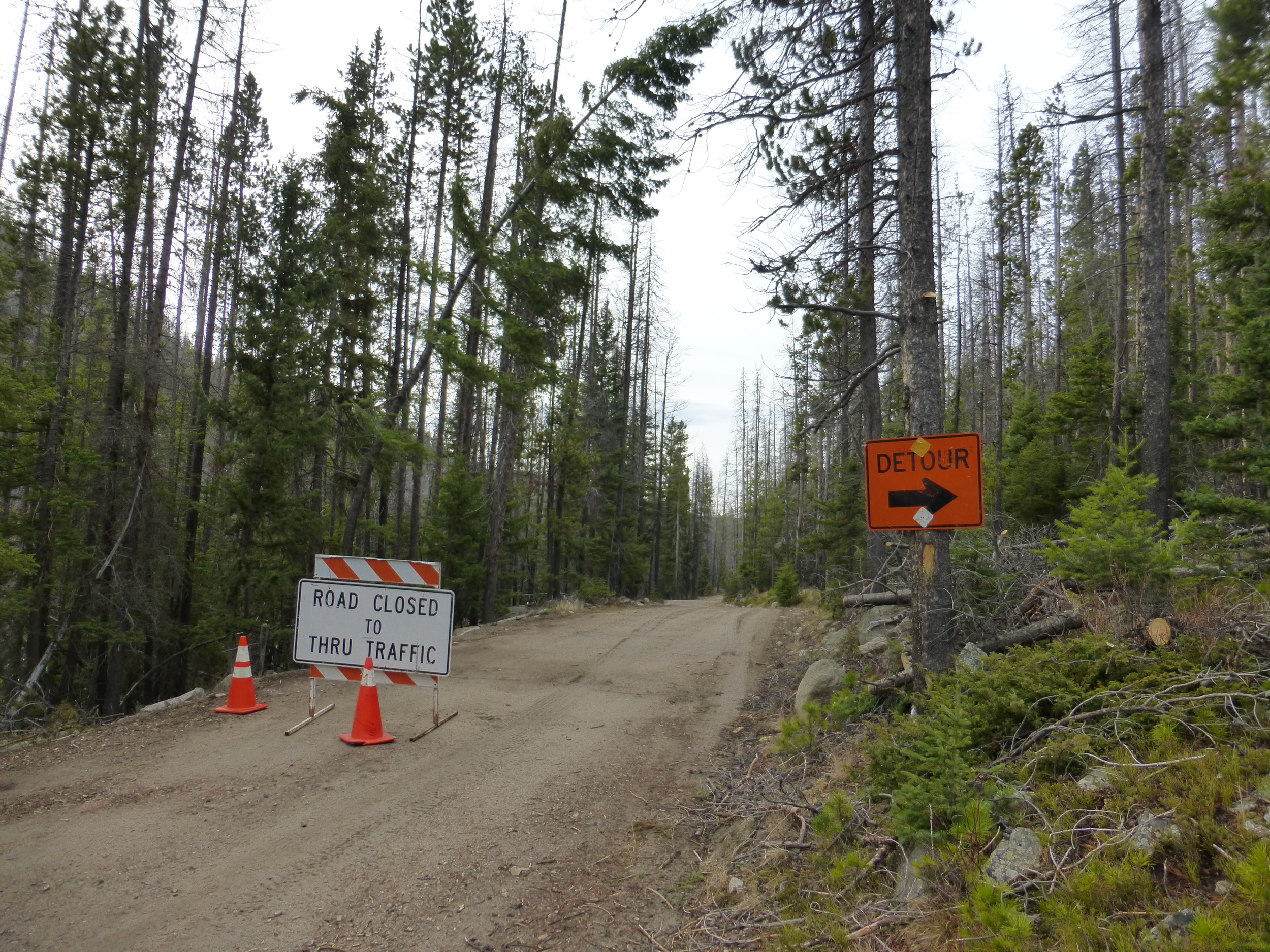 Road Closed. The detour was an additional 8miles (uphill too). How bad could it be?