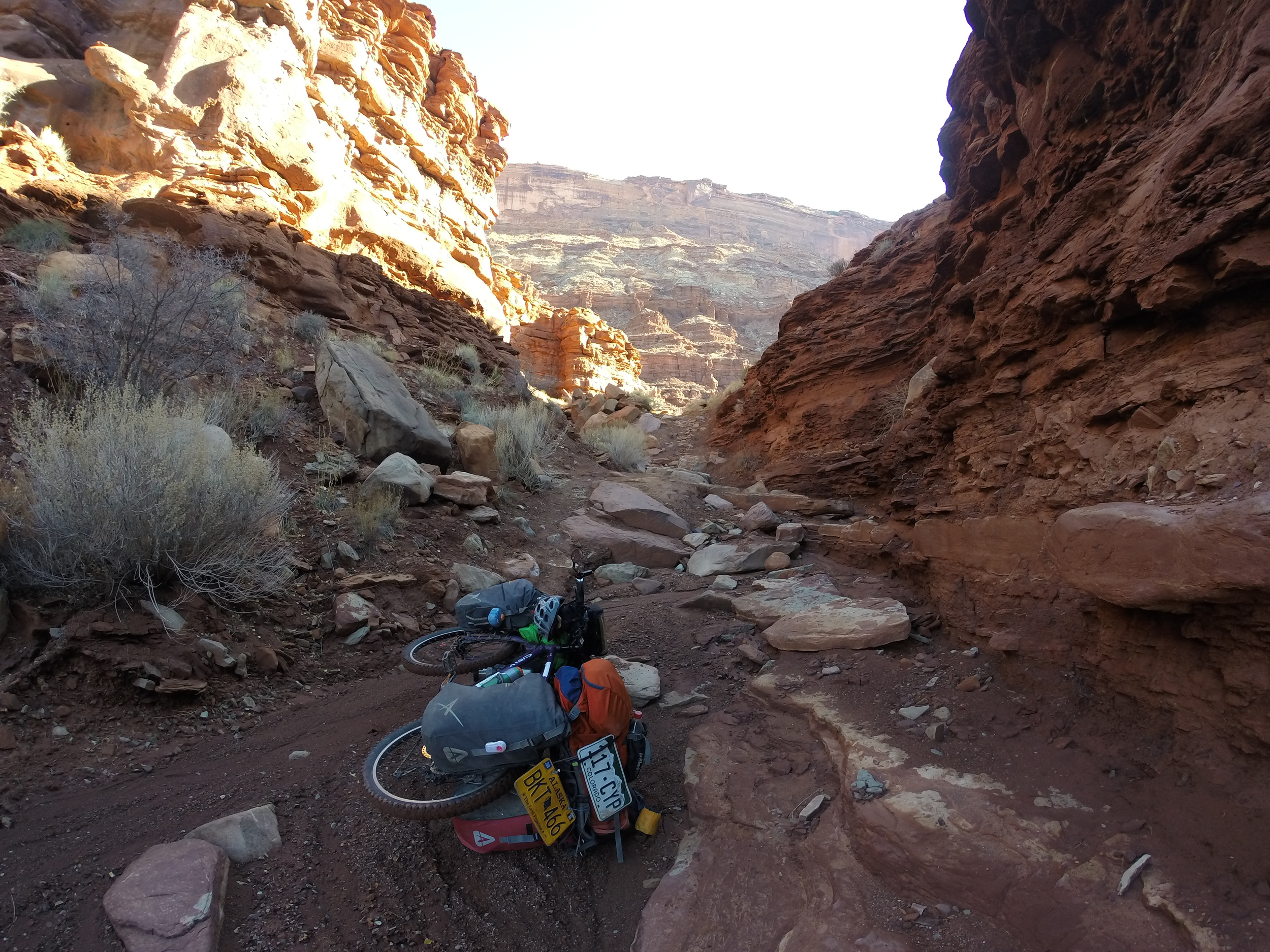 Lockhart Basin Utah. The roughest 50miles in my entire trip, it took 3 days to complete and the bike was loaded with extra water & food.