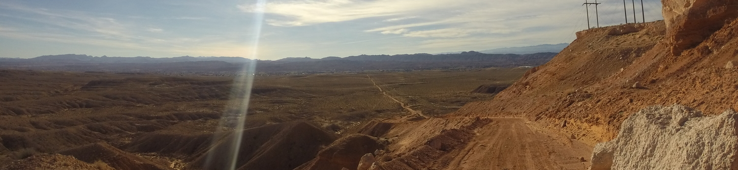 The descent into Moapa Valley