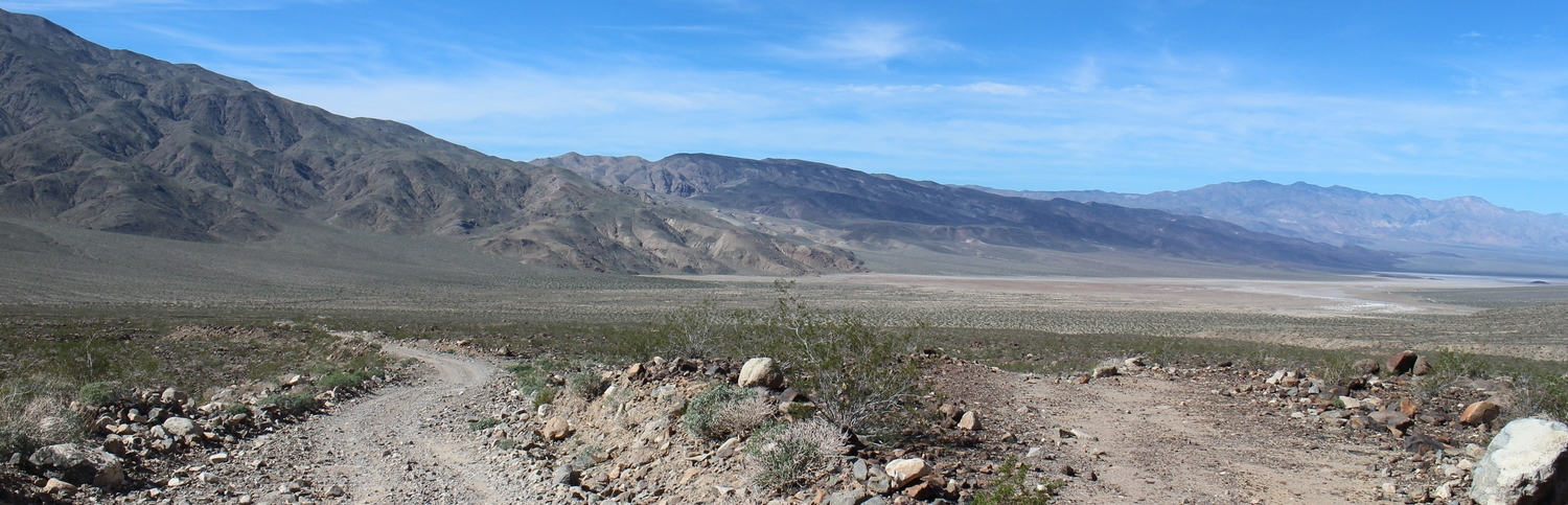 The road to Panamint Valley