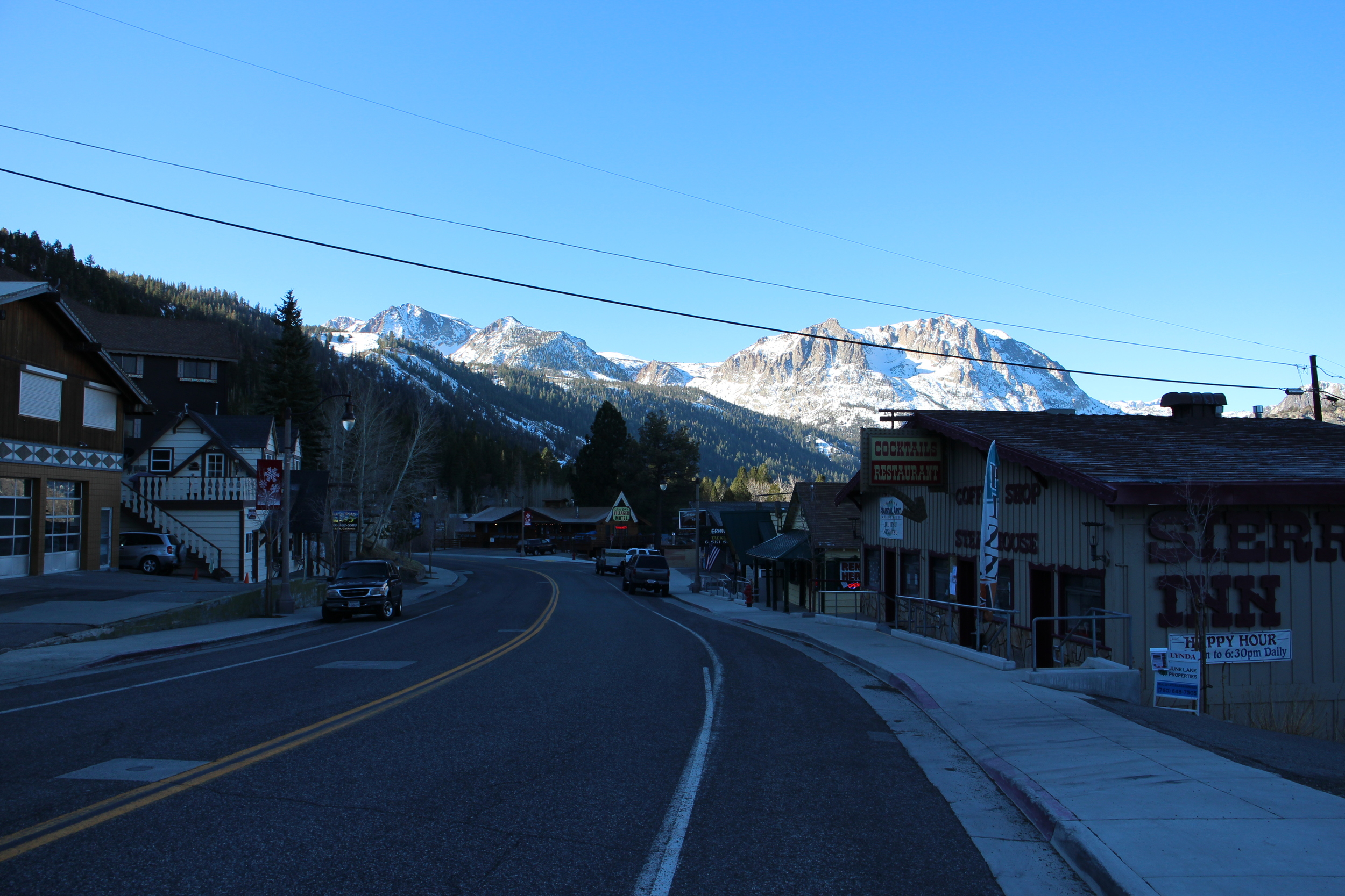The small ski town of June Lake