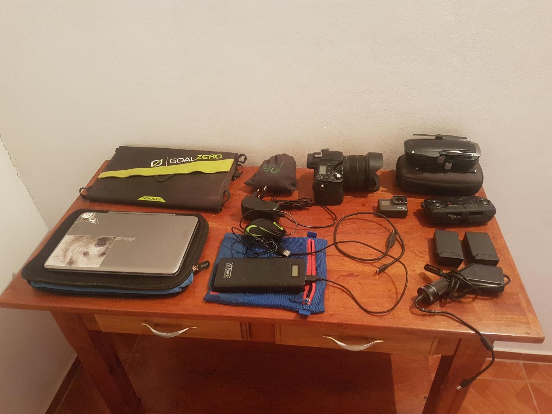The whole electronics kit