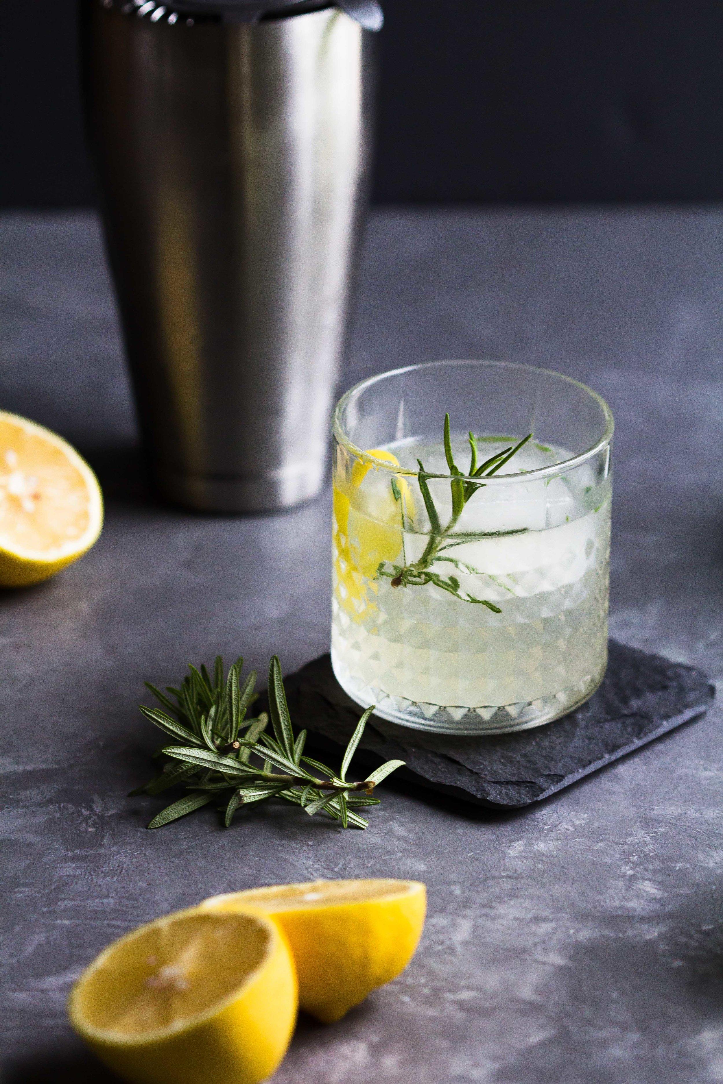 Elderflower, Lemon + Rosemary Cocktail - Sarah J. Hauser-4.jpg