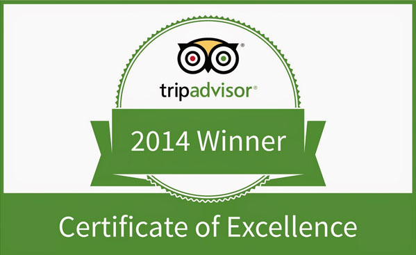 TRIPADVISOR CERTIFICATE OF EXCELLENCE AWARD 2014 MARIO'S PLACE.jpg