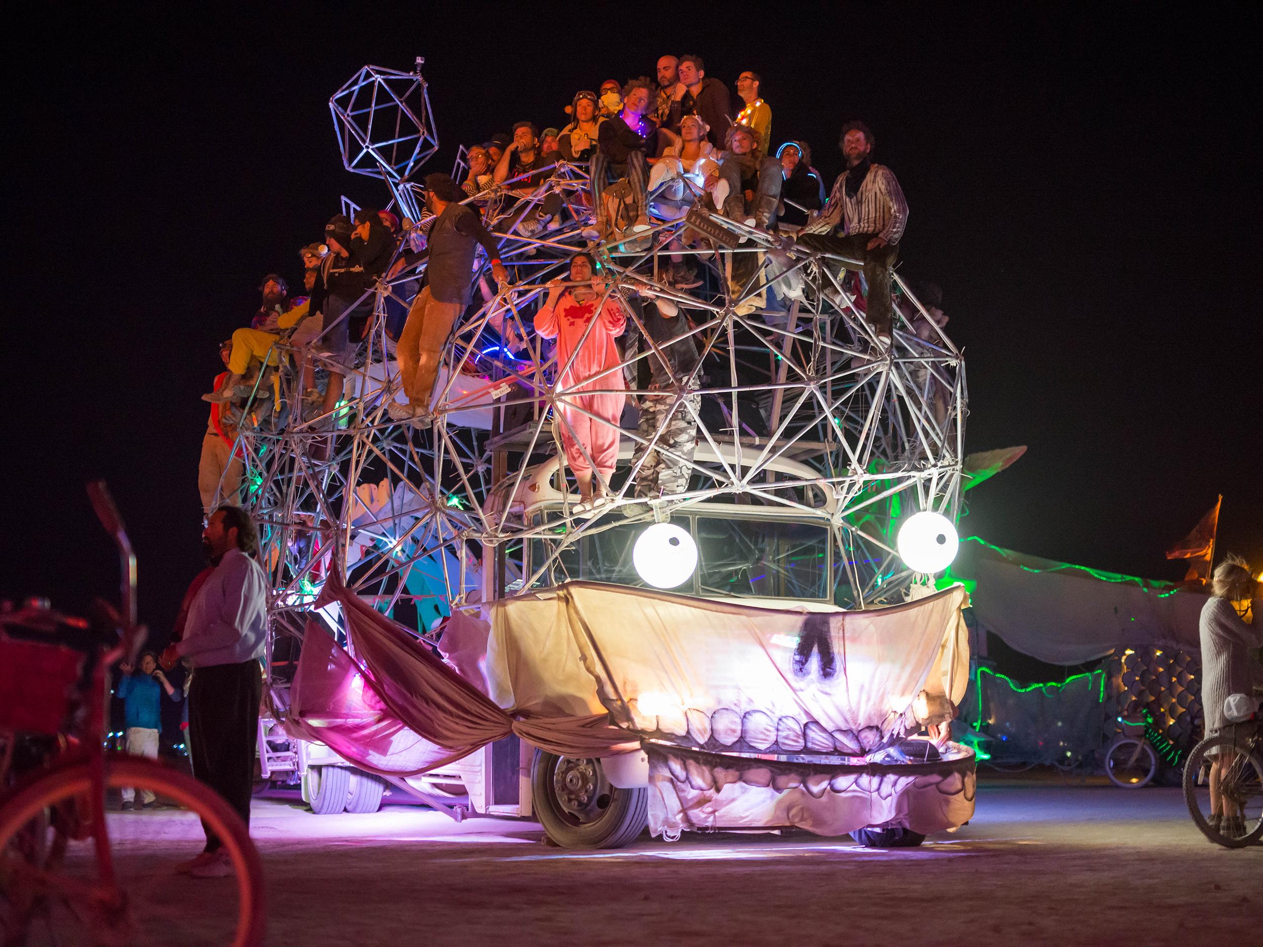 Dr. Brainlove at Burning Man 2014. Copyright:Shira Brettman
