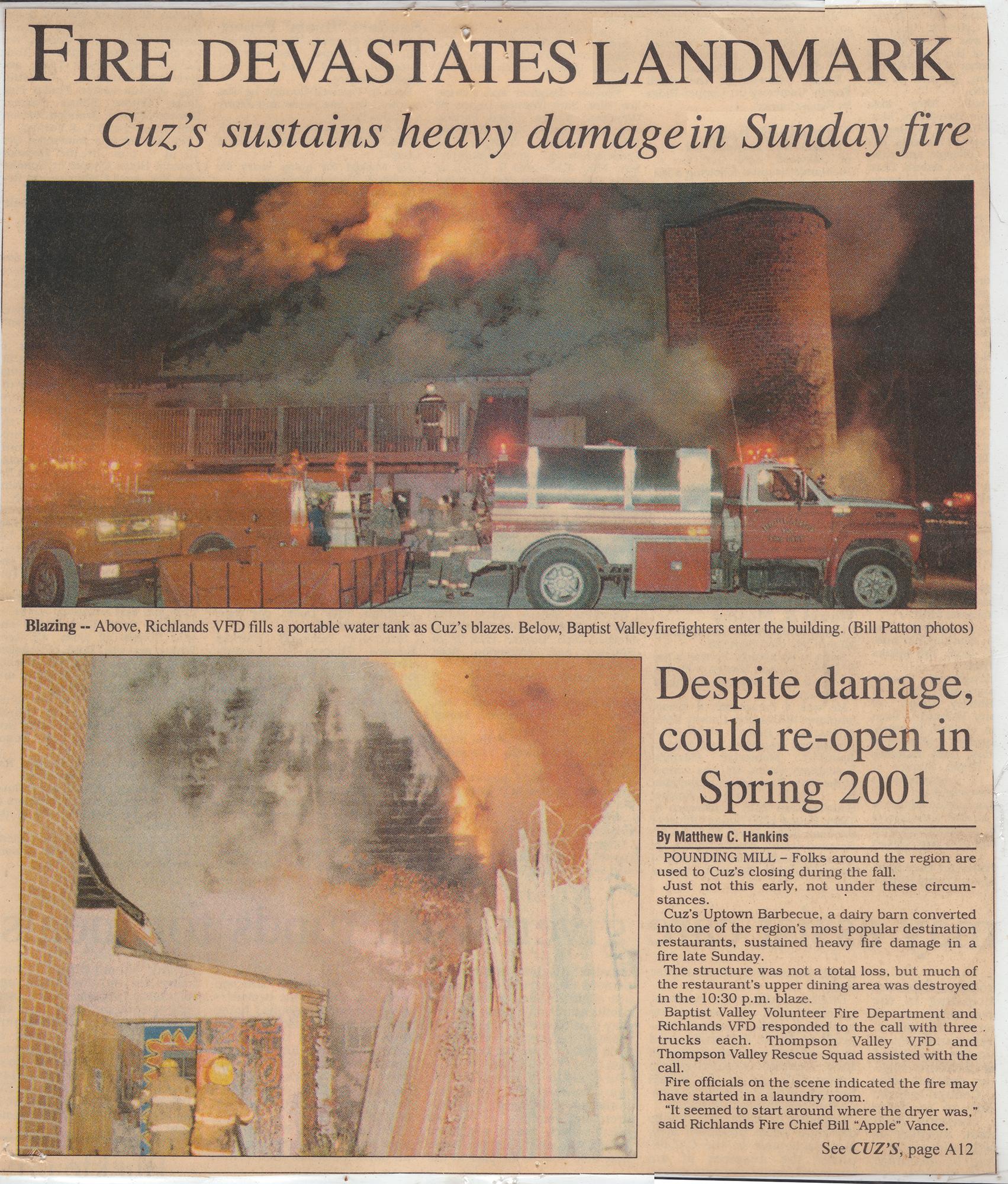 Cuz's Clips - Richlands News Press - 2000