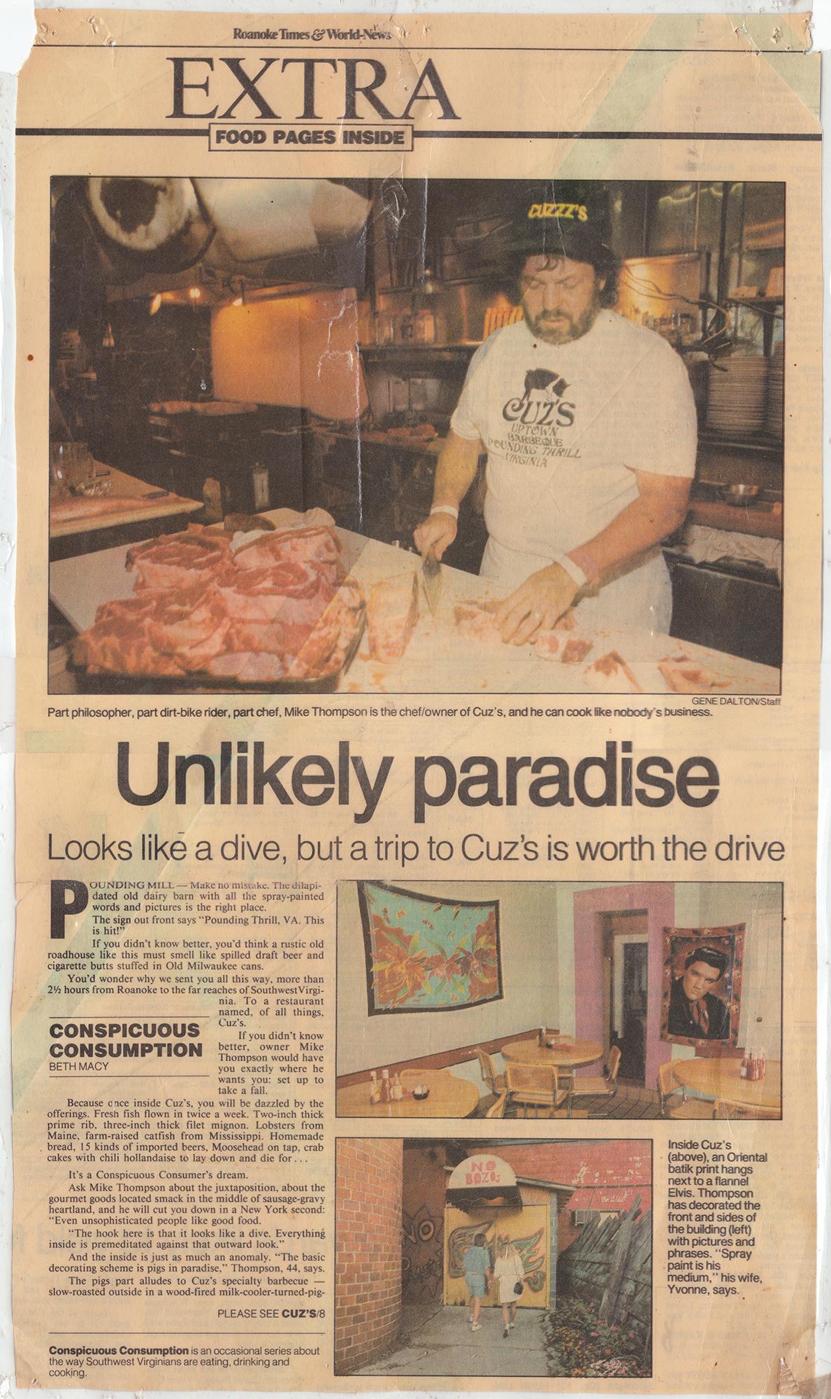 Cuz's Clips - Roanoke Times