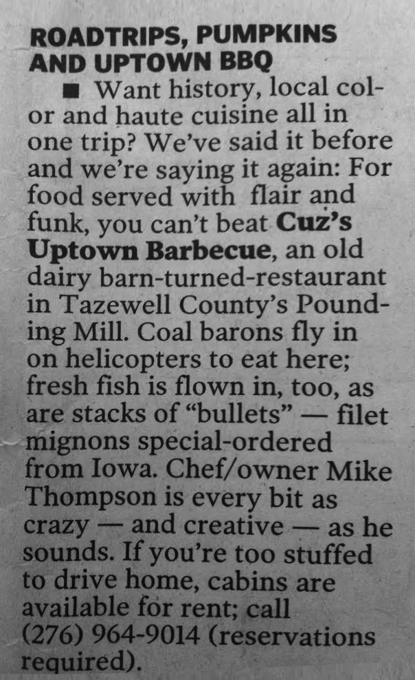 Cuz's Clips - Roanoke Times - 2004