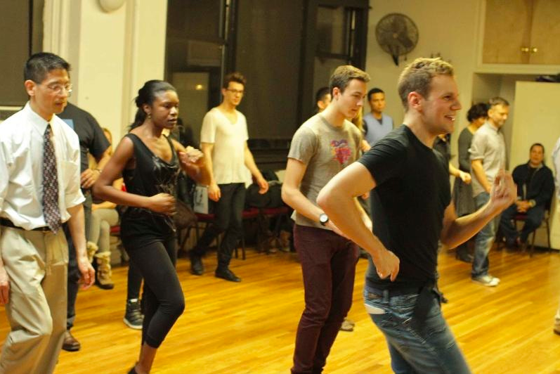 On the picture: Robbie Tristan Teaching a Gay Ballroom Class in NYC
