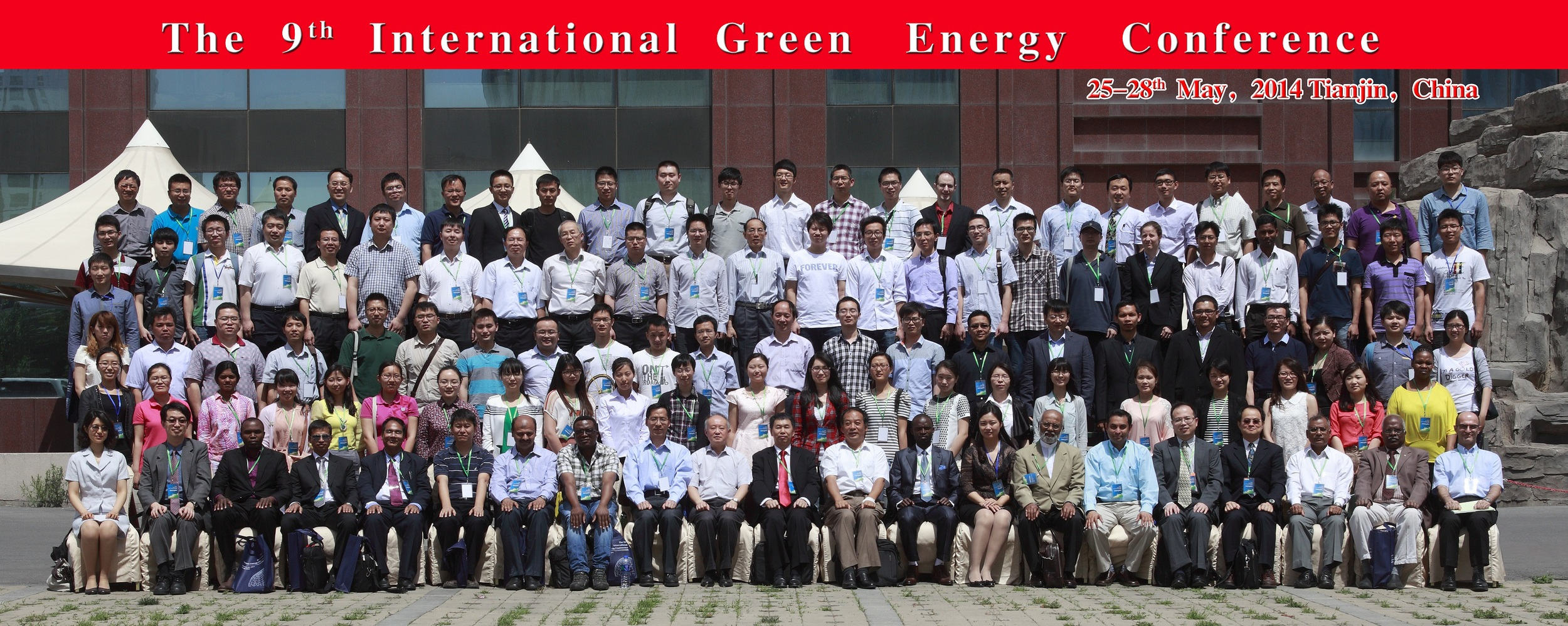 Group photo from the 9th International Green Energy Conference in Tianjin, China.