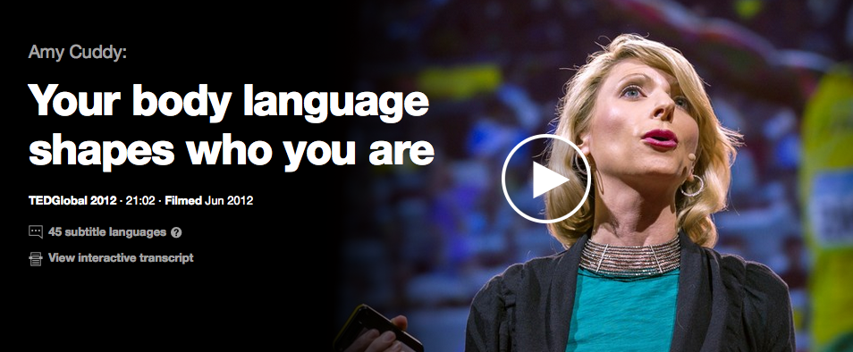 Check out this great TED talk that discusses the links between posture and mood.