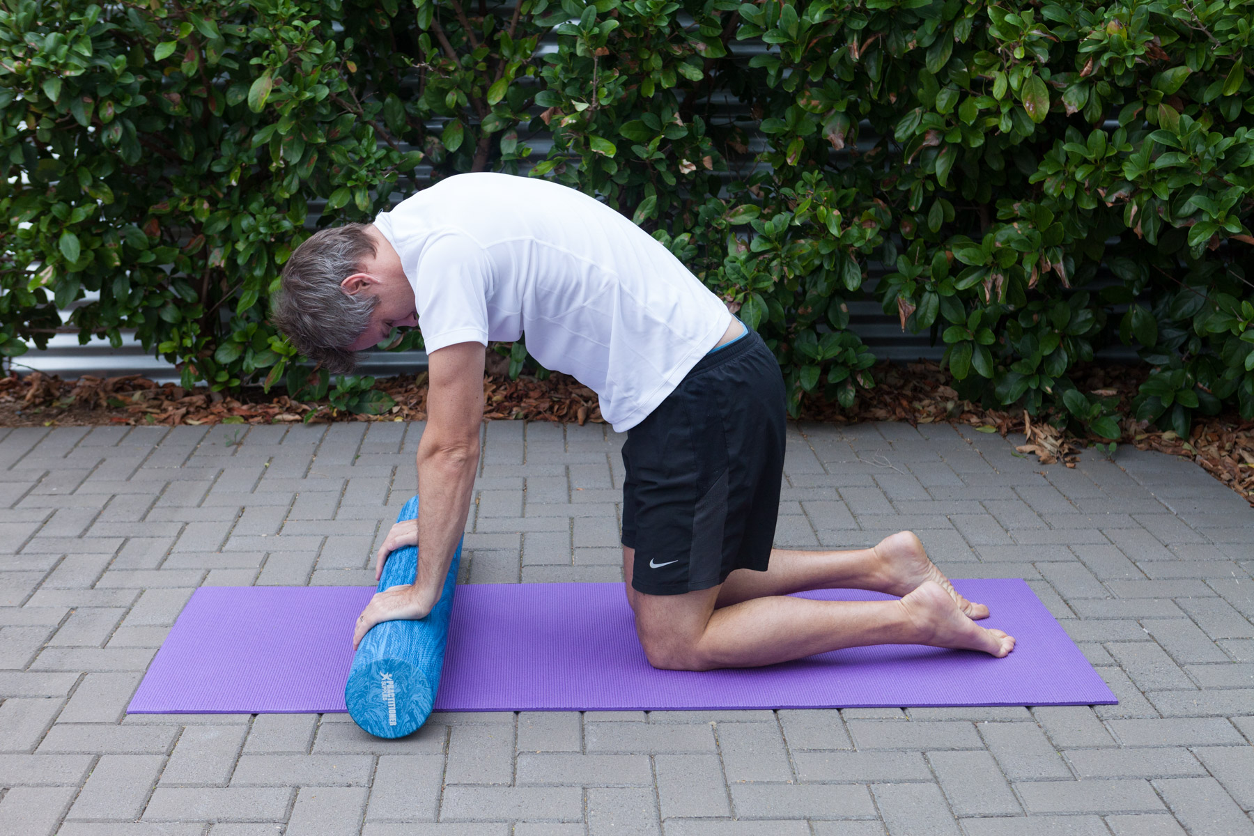 Cat-Cow   Arch your upper back and look down towards your hips while contracting your abdominals.  Then reverse the motion by lifting your head and hips.   Repeat 10 times.  Note:  Take care not to overstrain your neck or your lower back with this exercise.  Do not force into the end of its range.