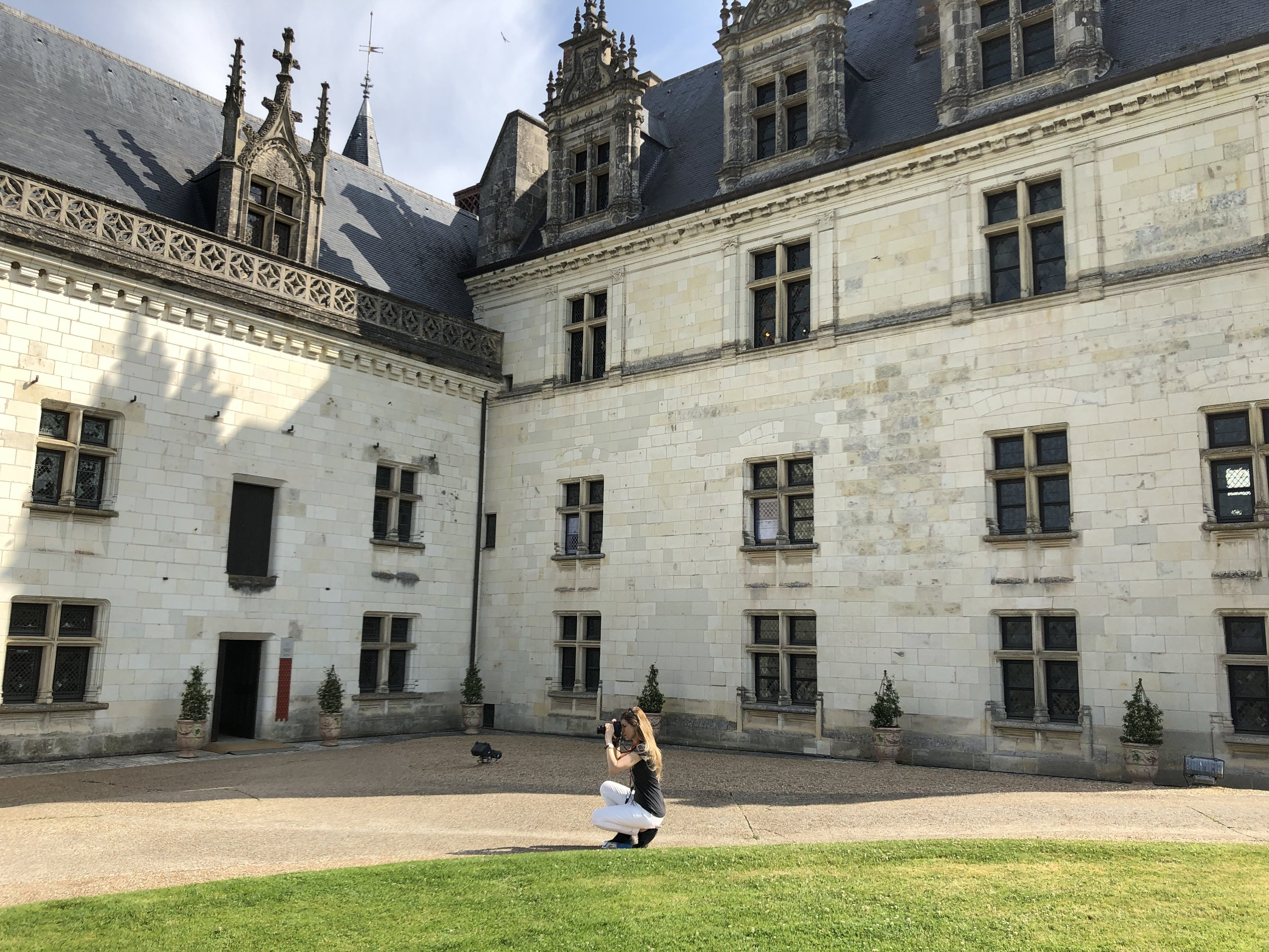 Preparing for the photoshoot at the Loire Valle, France.