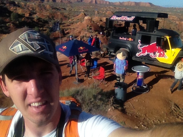 Hanging out at Red Bull Rampage in Zion, Utah! Built in Hydration pockets are appreciated right about now!