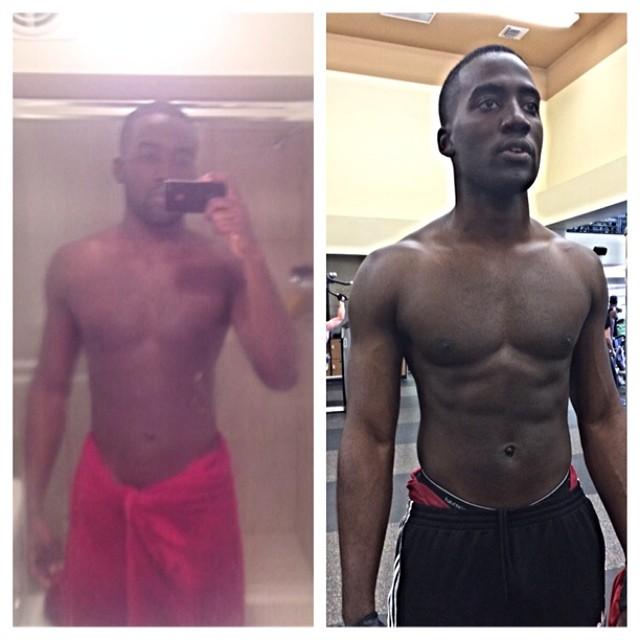 Shamier Anderson 2 week Transformation