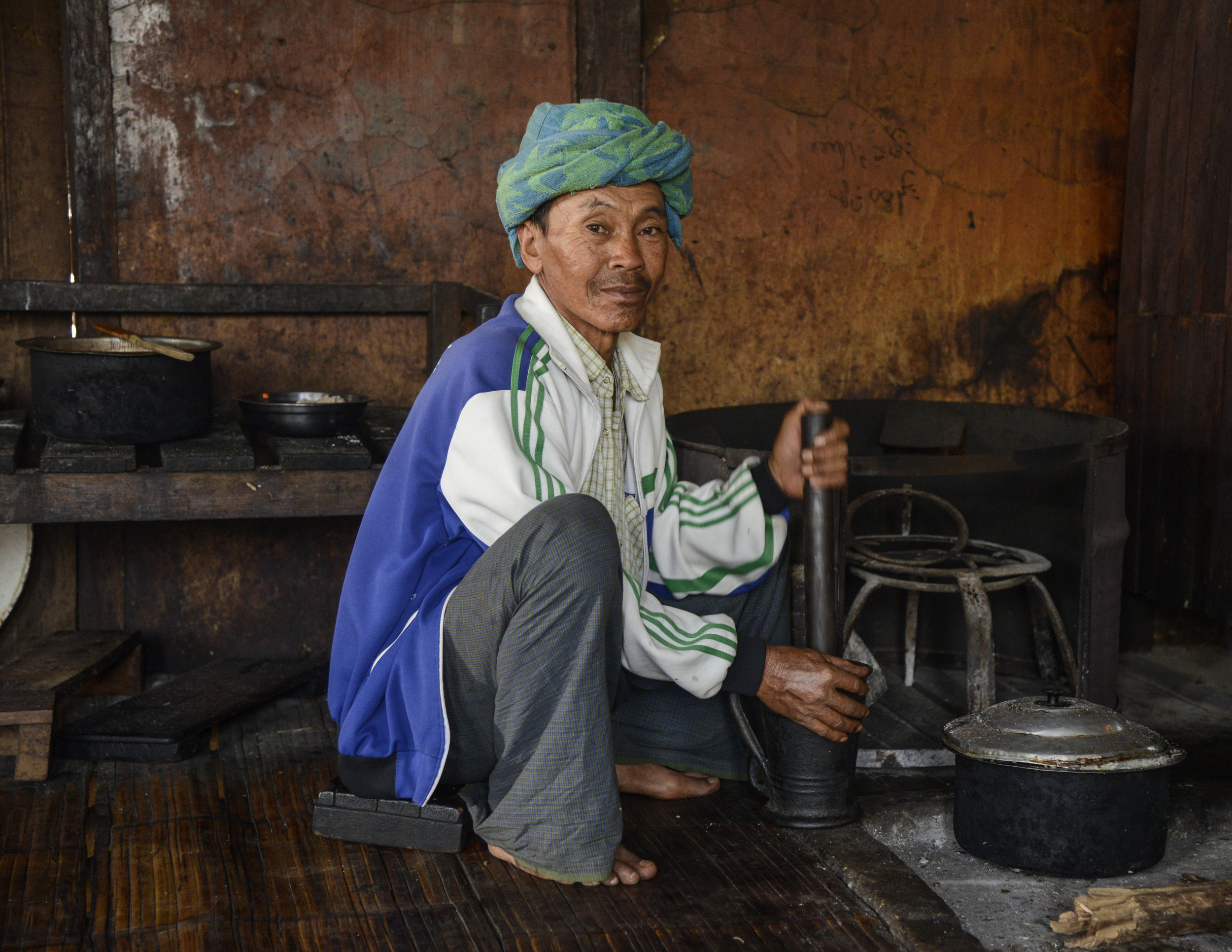 _4.21 Kitchen Worker, Baung Yay Cho Monastery, Myanmar.jpg