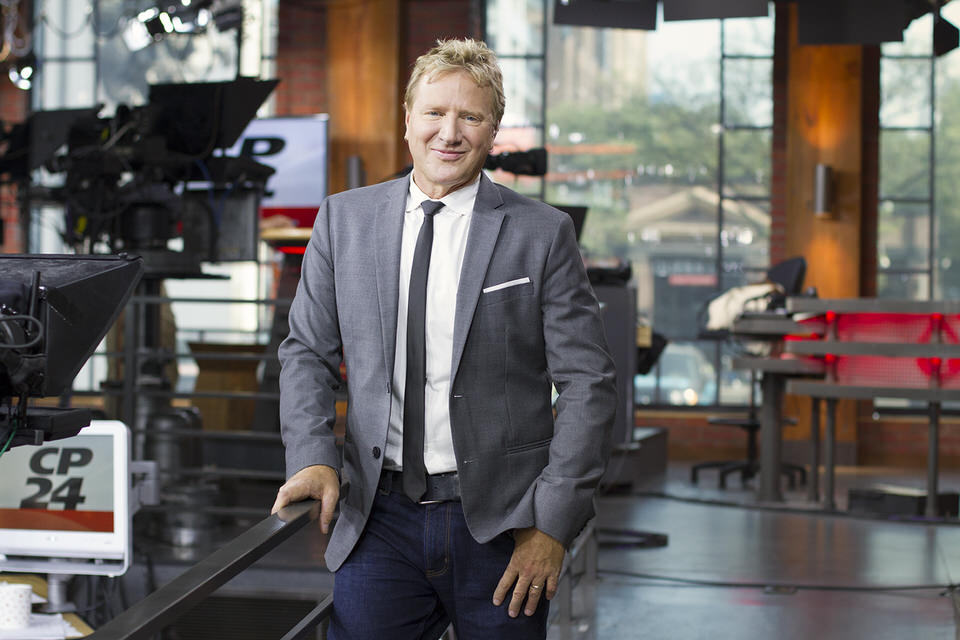 Portrait of Canadian tv host Steve Anthony in the CP24 Studio