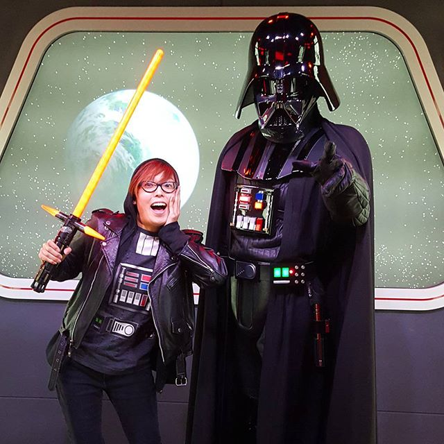 Happy Force Friday! #fbf when I was so excited to meet Darth Vader at Disneyland  #forcefriday #StarWars #DarthVader