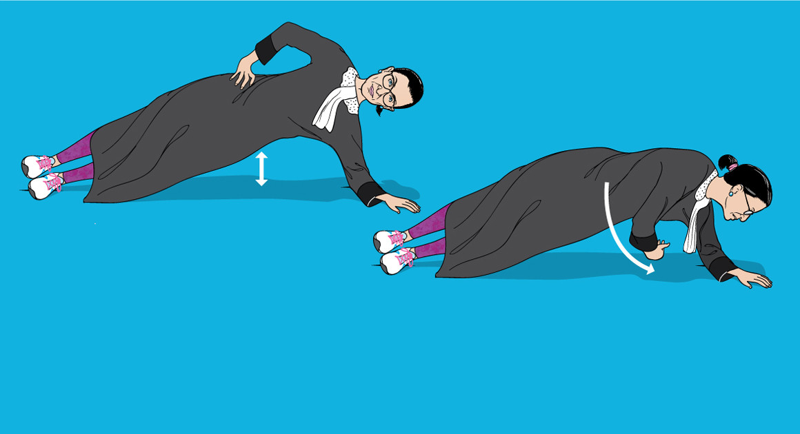 I did Ruth Bader Ginsburg's Workout. It nearly broke me.    POLITICO Magazine, February 2017