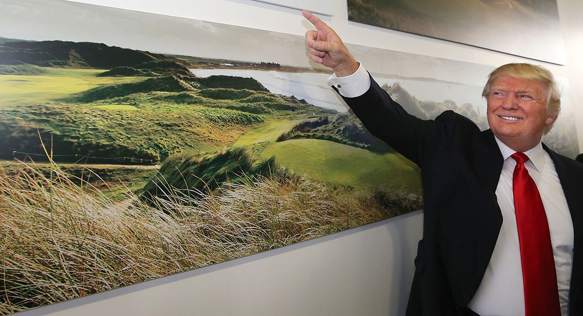 Donald Trump Acknowledges Climate Change — At His Golf Course     POLITICO, May 2016